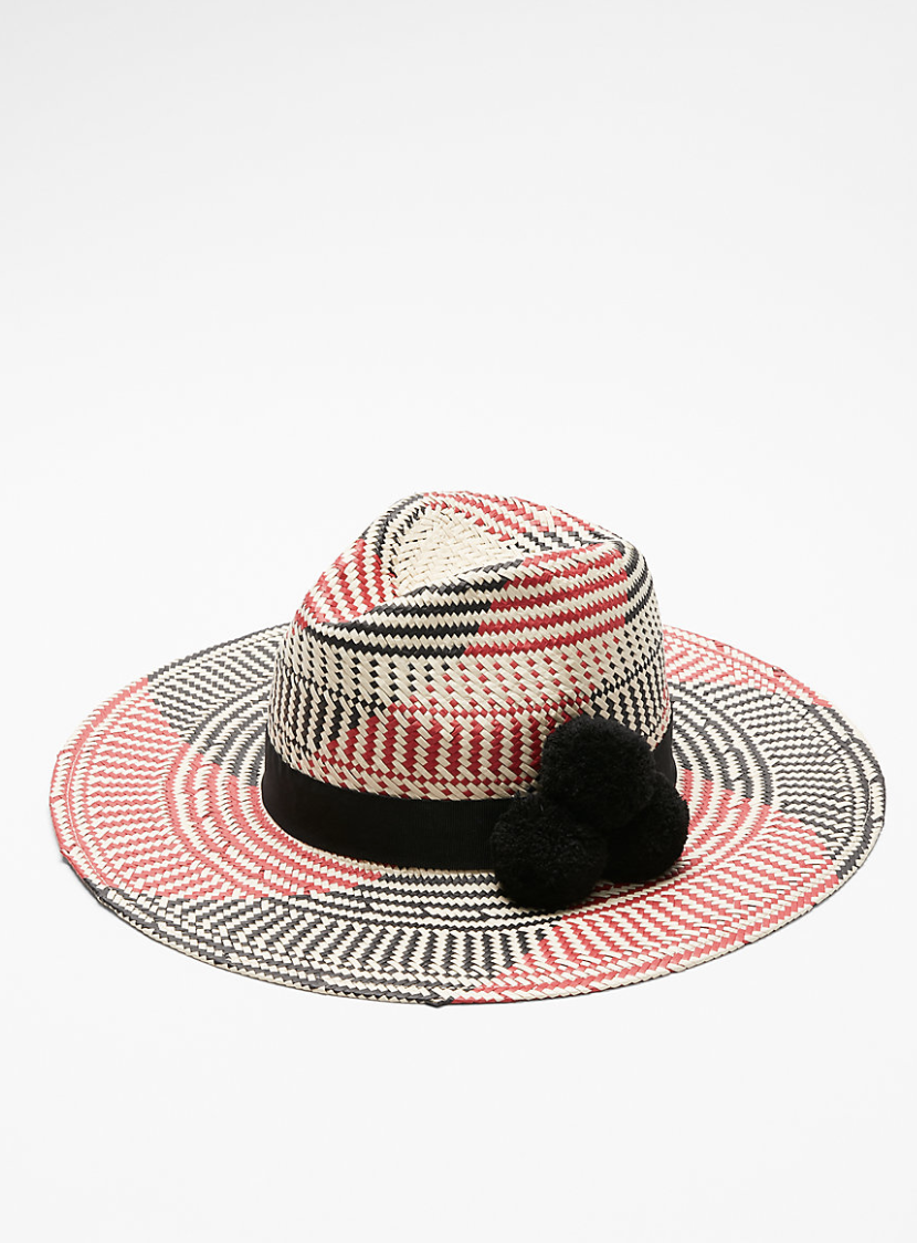 EXPRESS Multicolor Straw Fedora