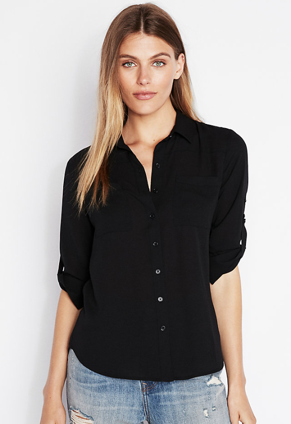 EXPRESS Slim Fit Full Button-Up Portofino Shirt