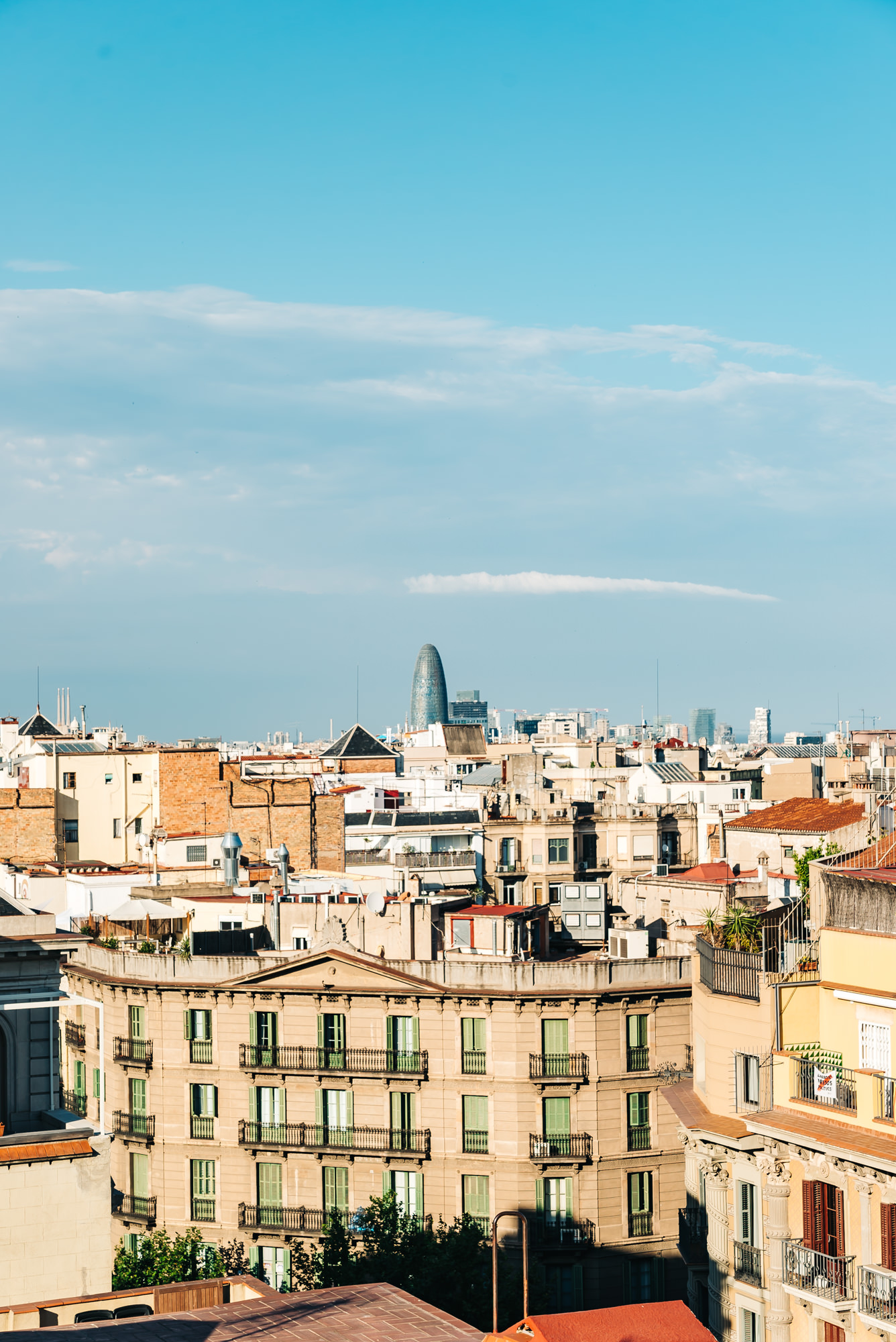 Overlooking Barcelona from the rooftop of Casa Mila