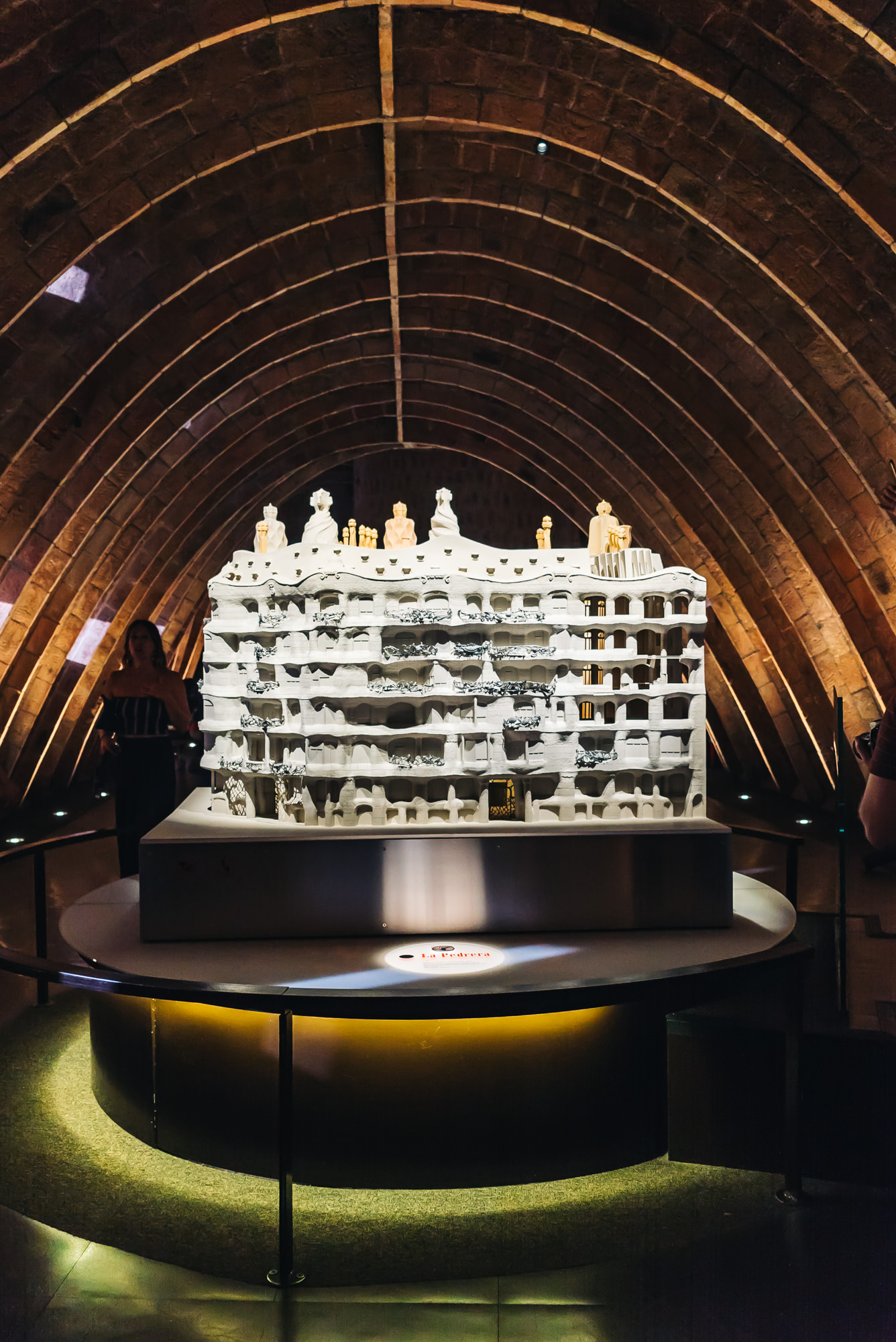 Another model of Casa Mila in the Attic section