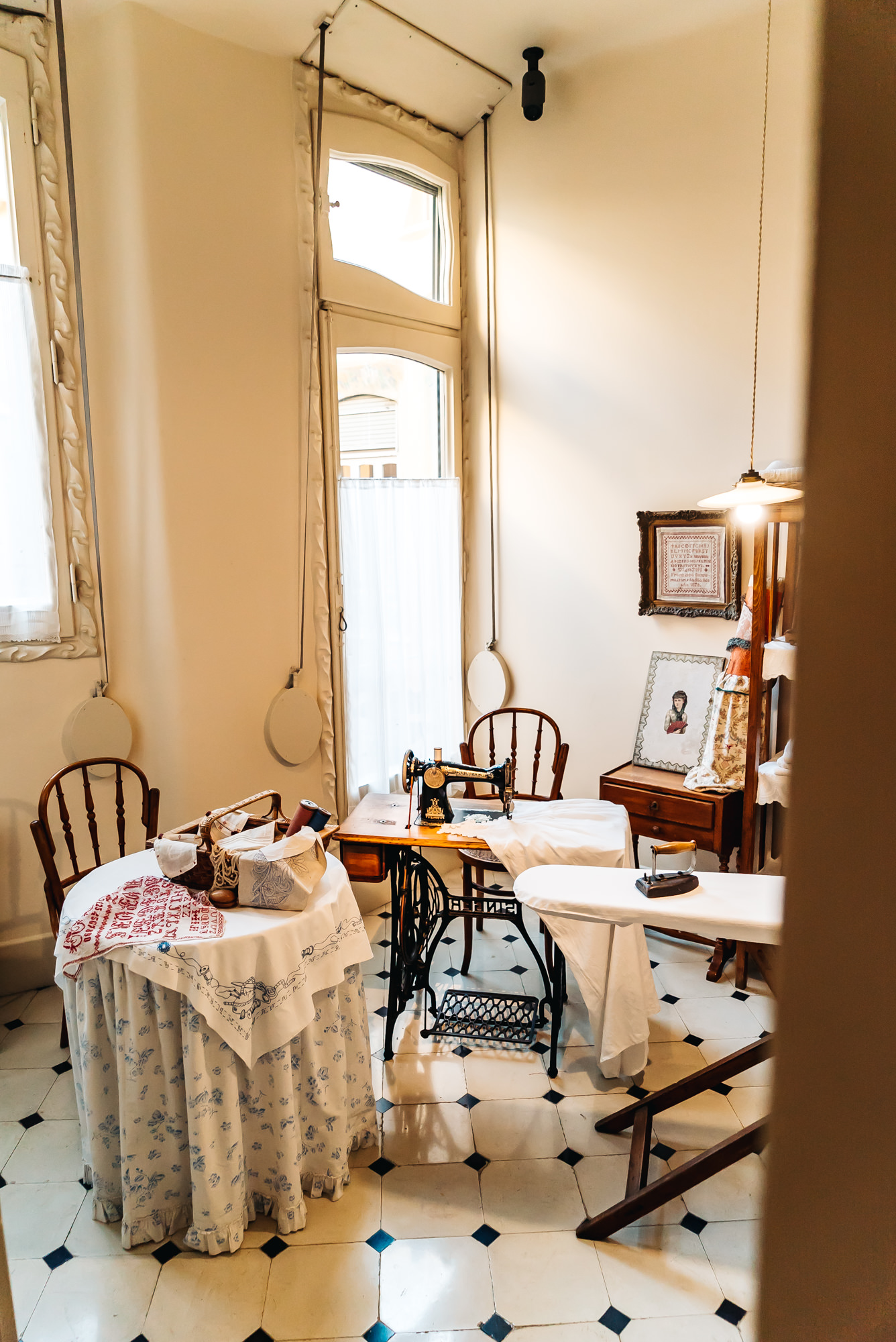 sewing and ironing room of Casa Mila