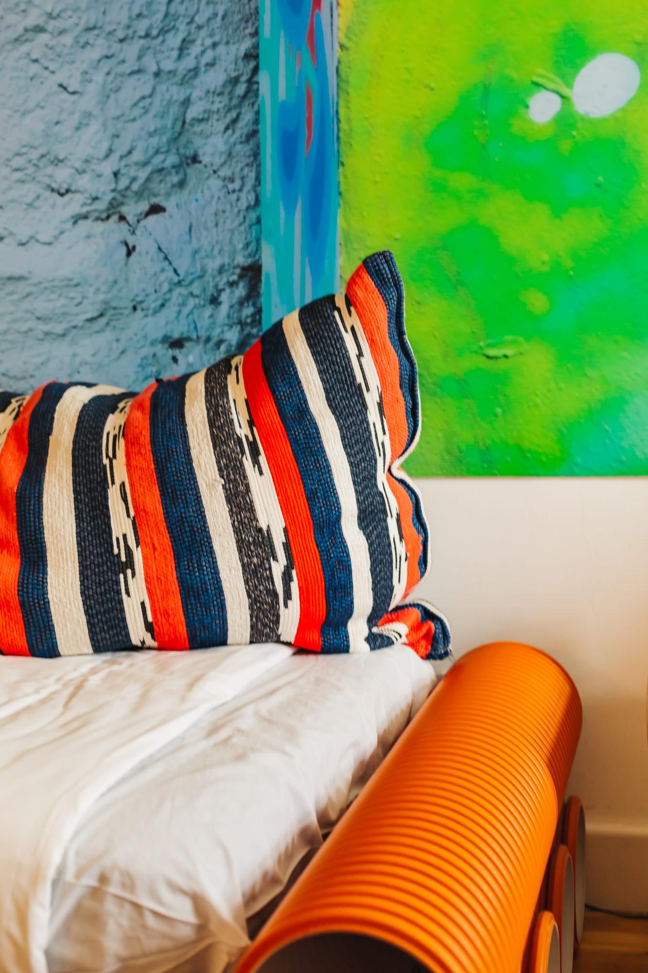 Fun and colorful room at Chiado Arty Flats
