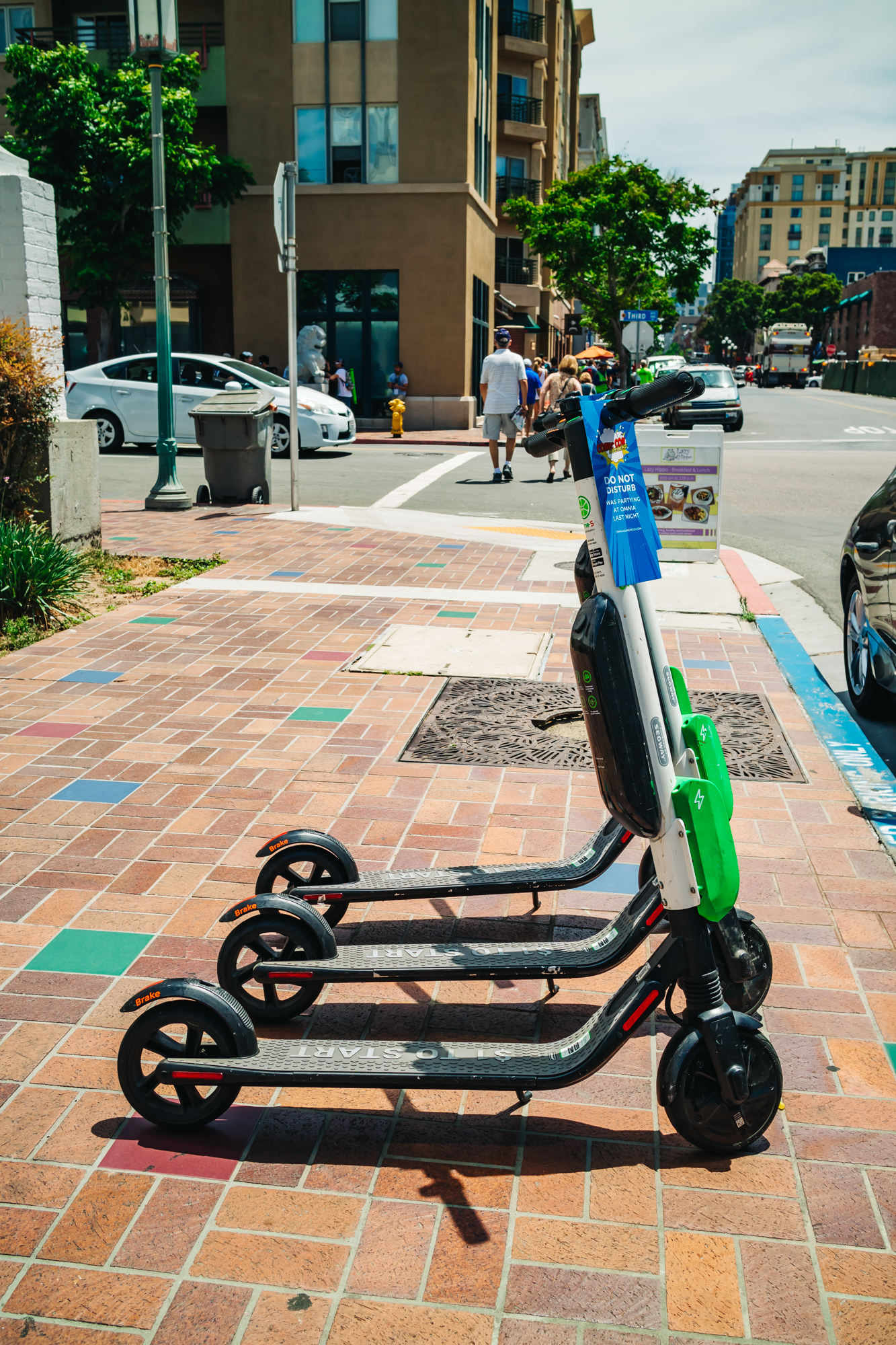 Rental scooters were everywhere