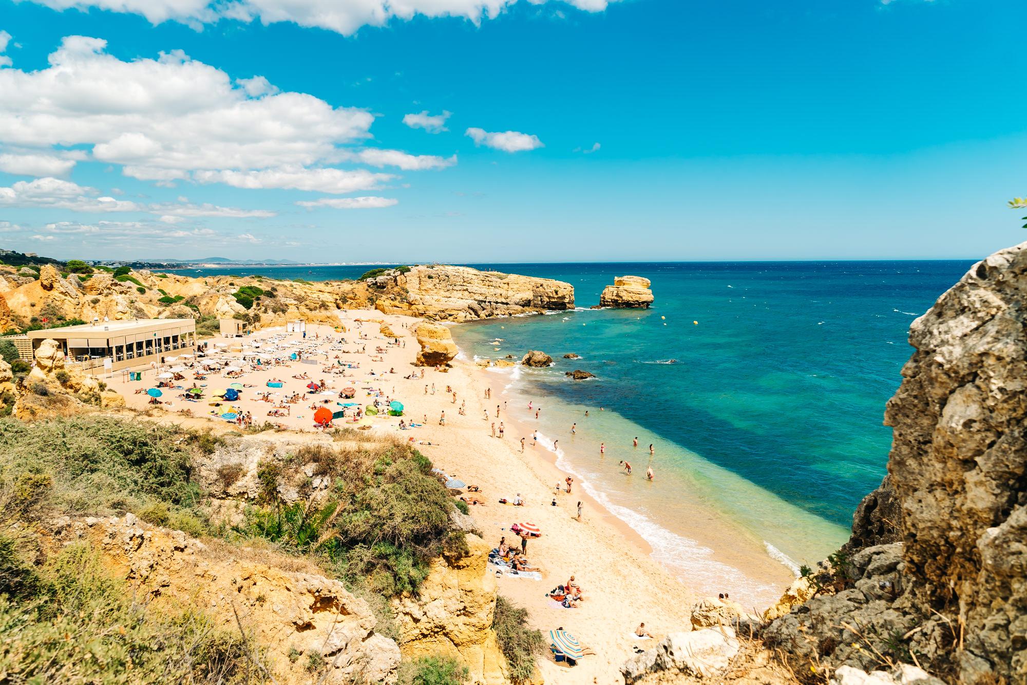 Beautiful Sao Rafael Beach in Albufeira, Portugal