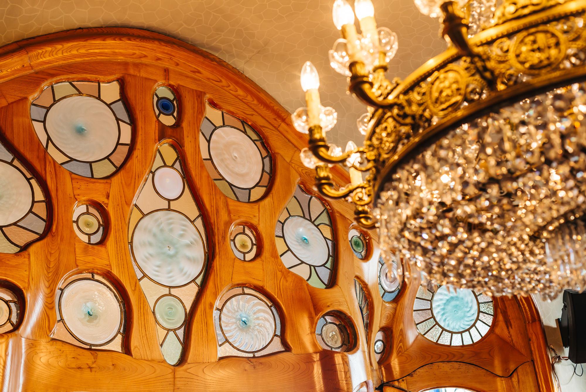 Detailed, organic designs of Antoni Gaudi's Casa Batlló
