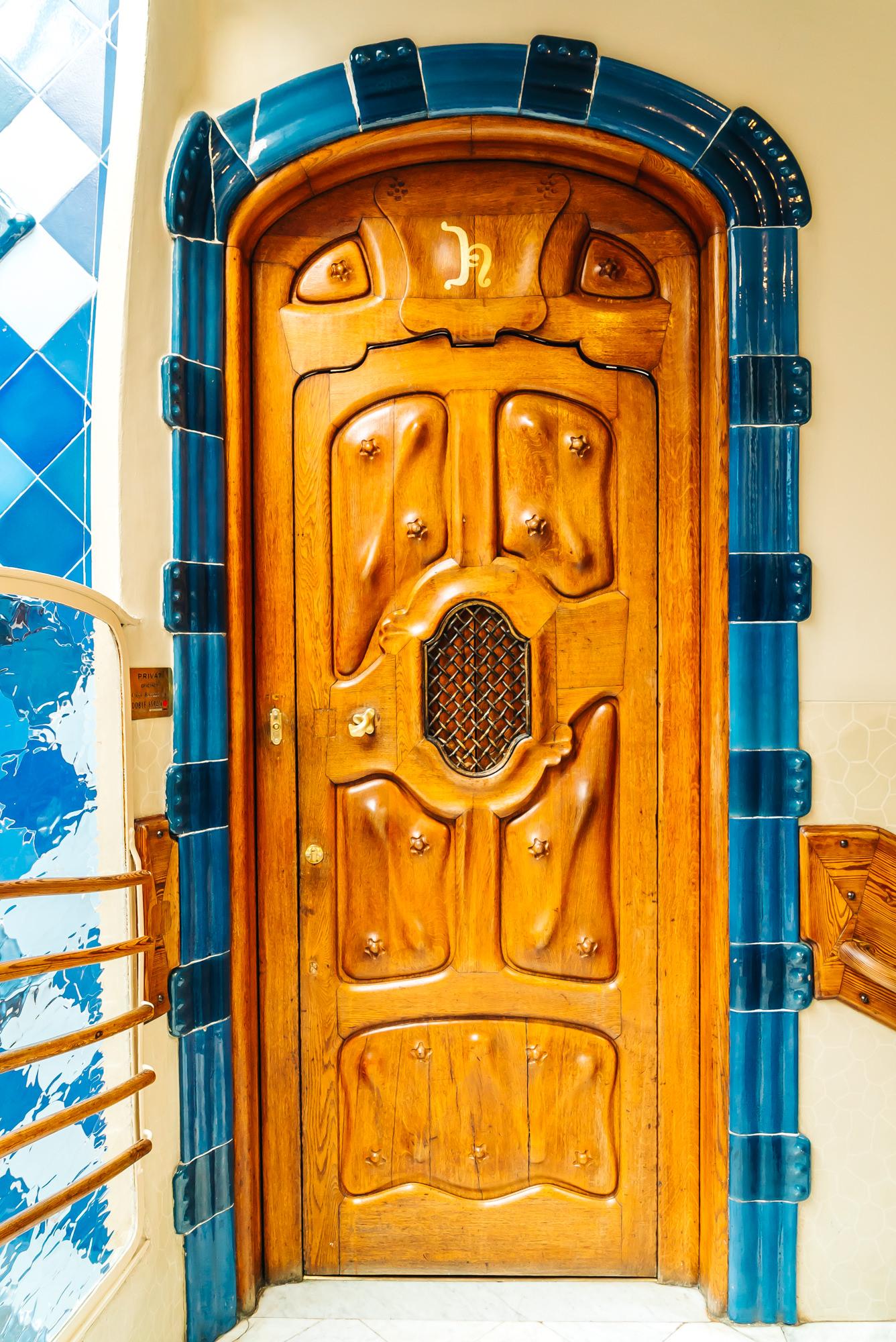 Antoni Gaudi's unique oak doors