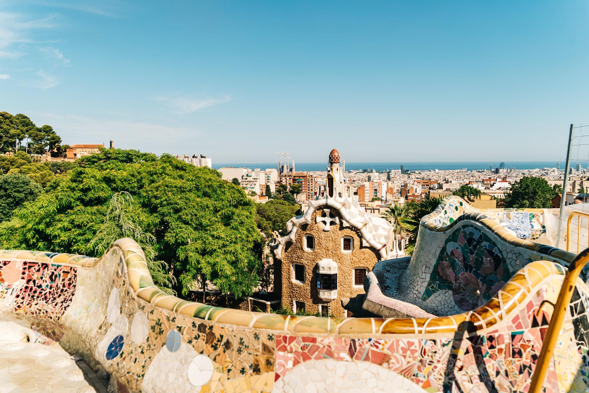 Park Guell vista point