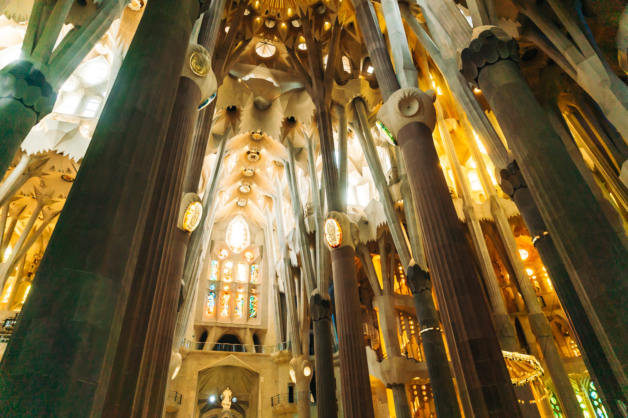 the extraordinary interior of La Sagrada Familia