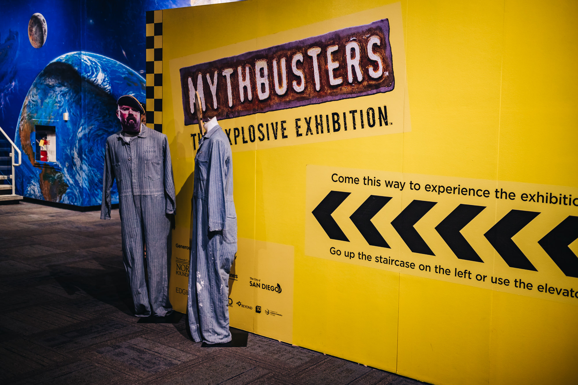 the Mythbusters Exhibit at the Fleet Science Center