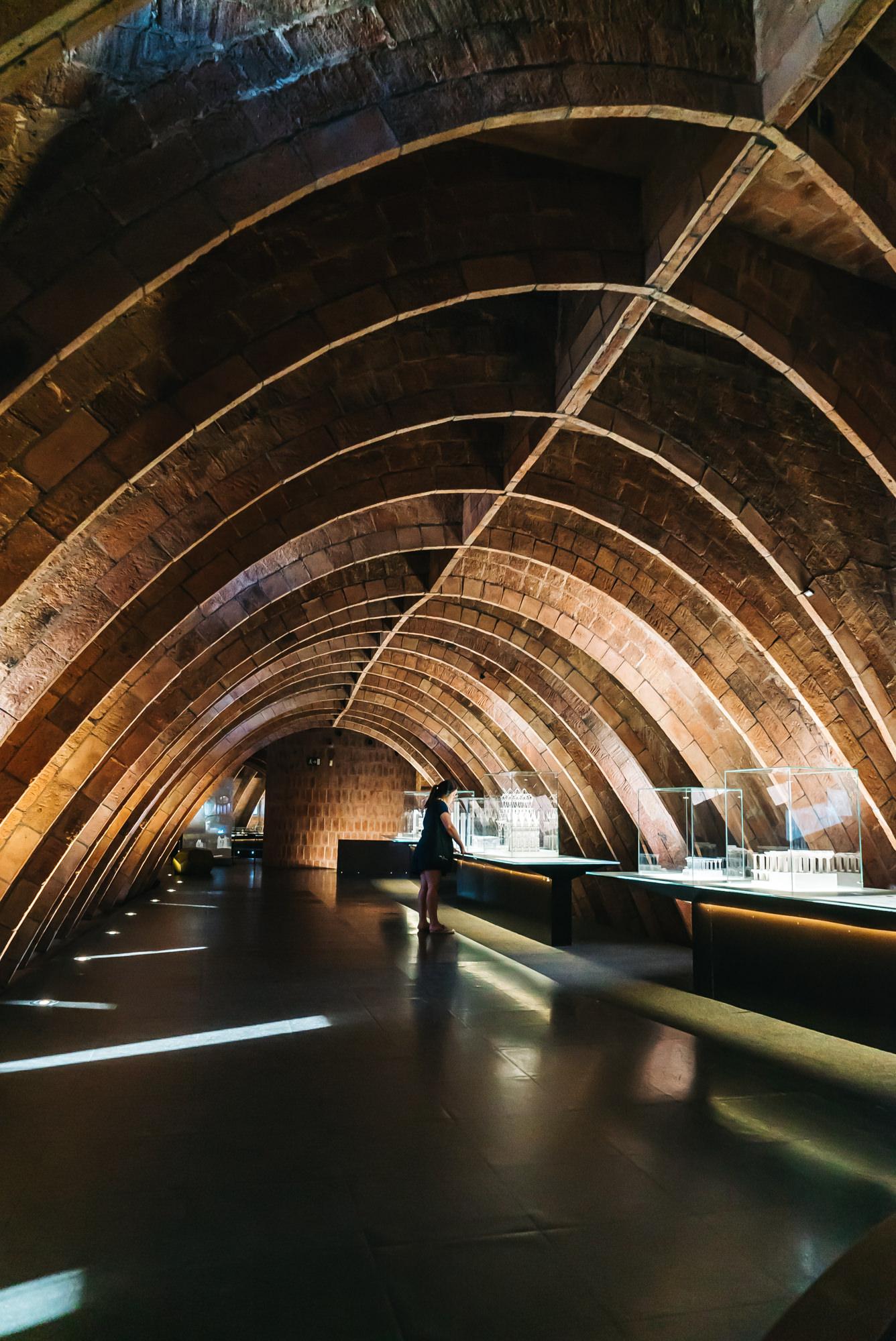 Antoni Gaudi's display of work at Casa Mila