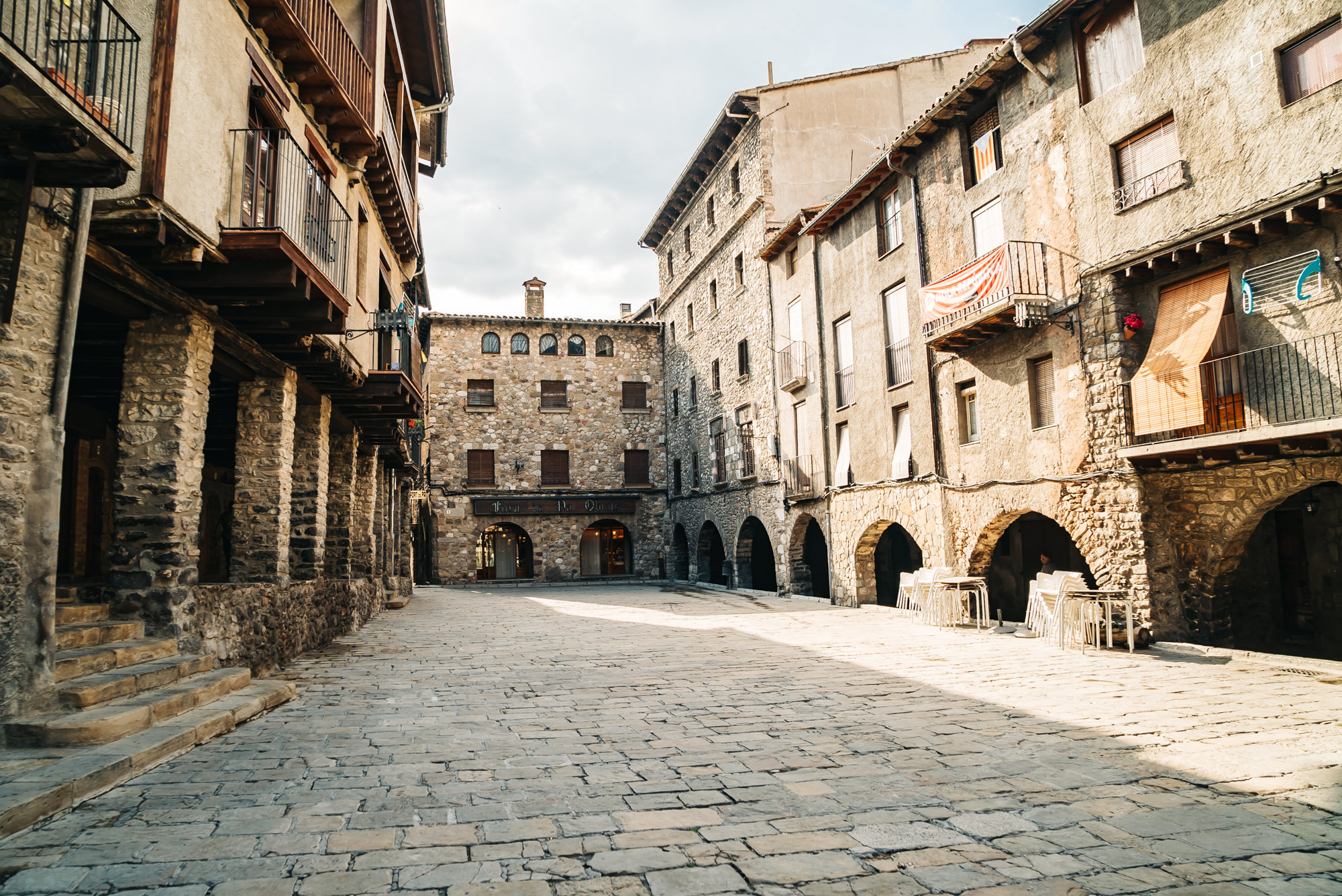 Plaça Porxada, a little square built in the 13th century.