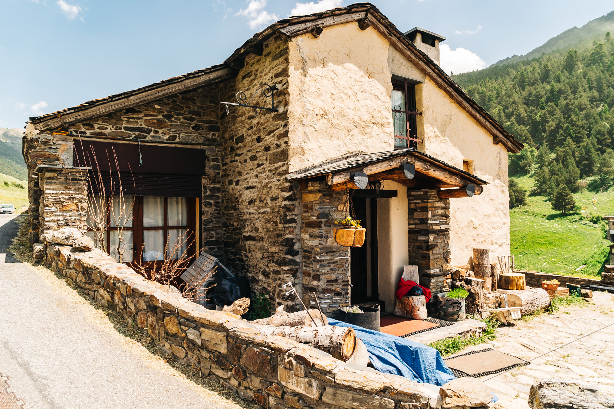 Typical house in the mountains of Andorra