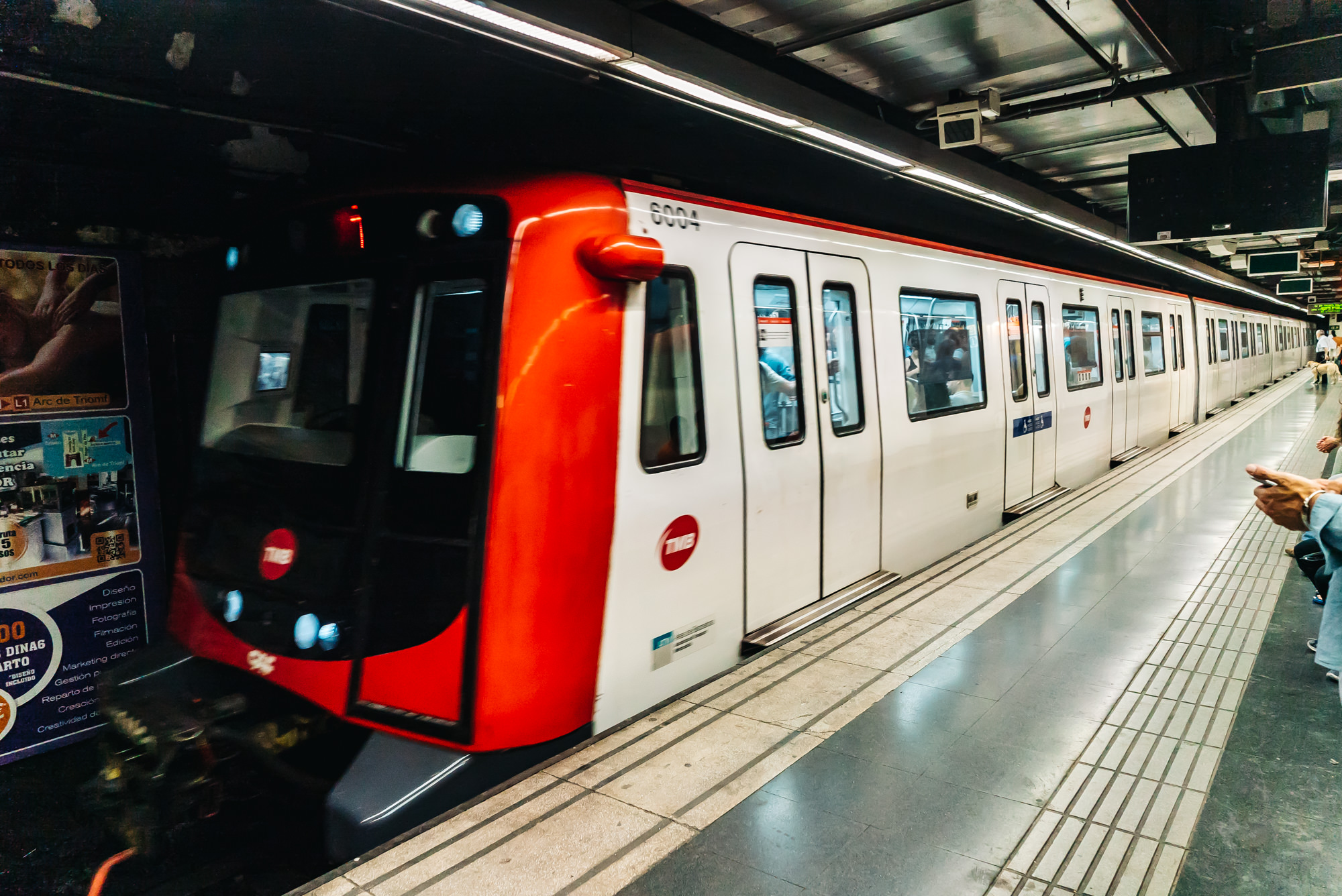 Very efficient metro system in Barcelona