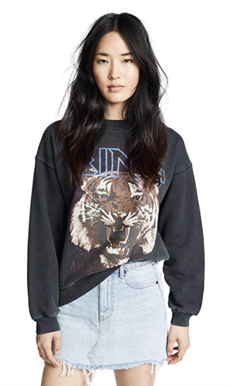 ANINE BING Women's Bing Tiger Sweatshirt
