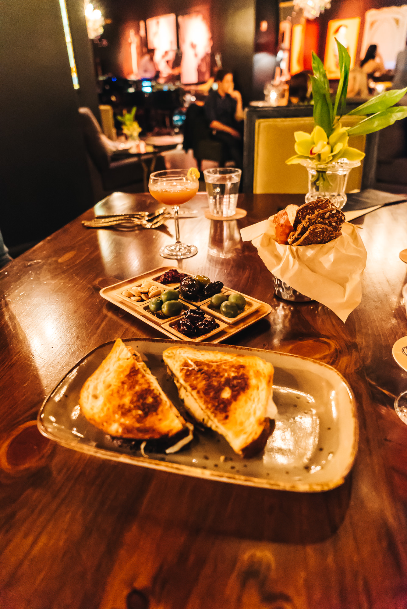 Grilled Cheese + Olive Bar appetizer