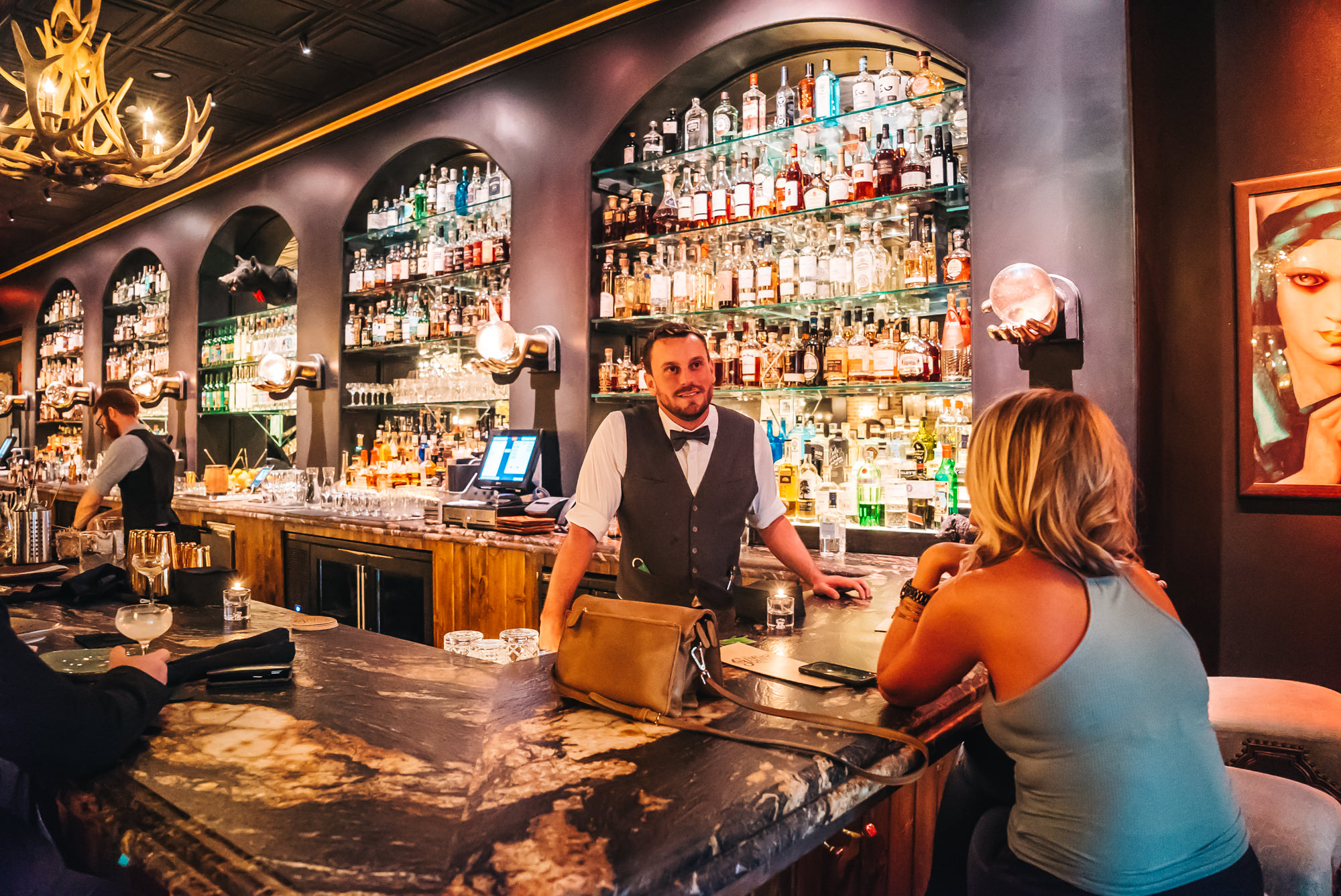 Friendly and knowledgeable bartenders at C.W.'s Gin Joint
