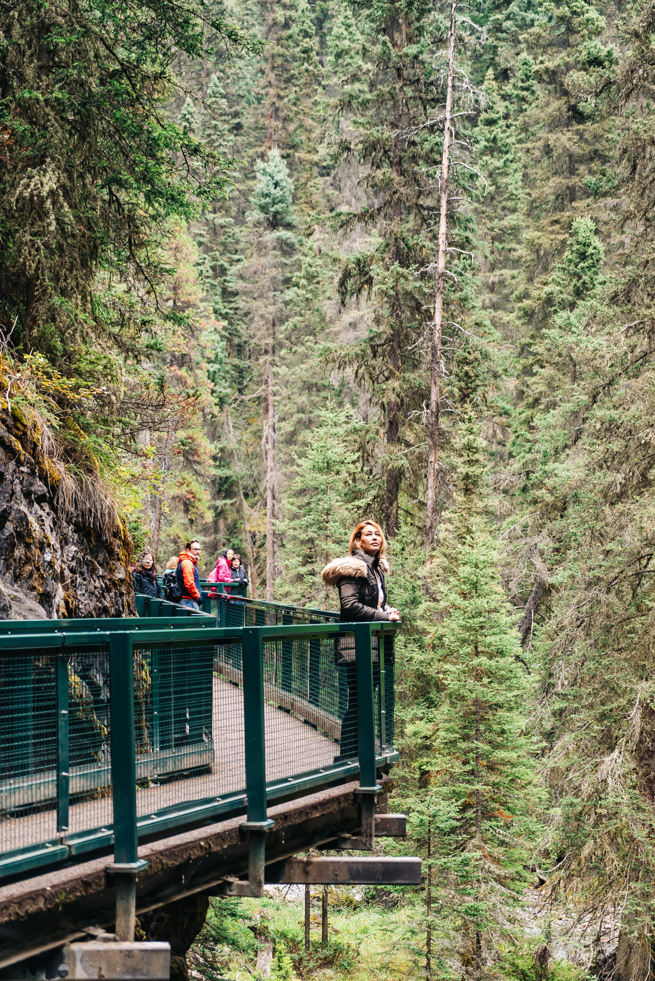Taking in the gorgeous views of Johnston Canyon