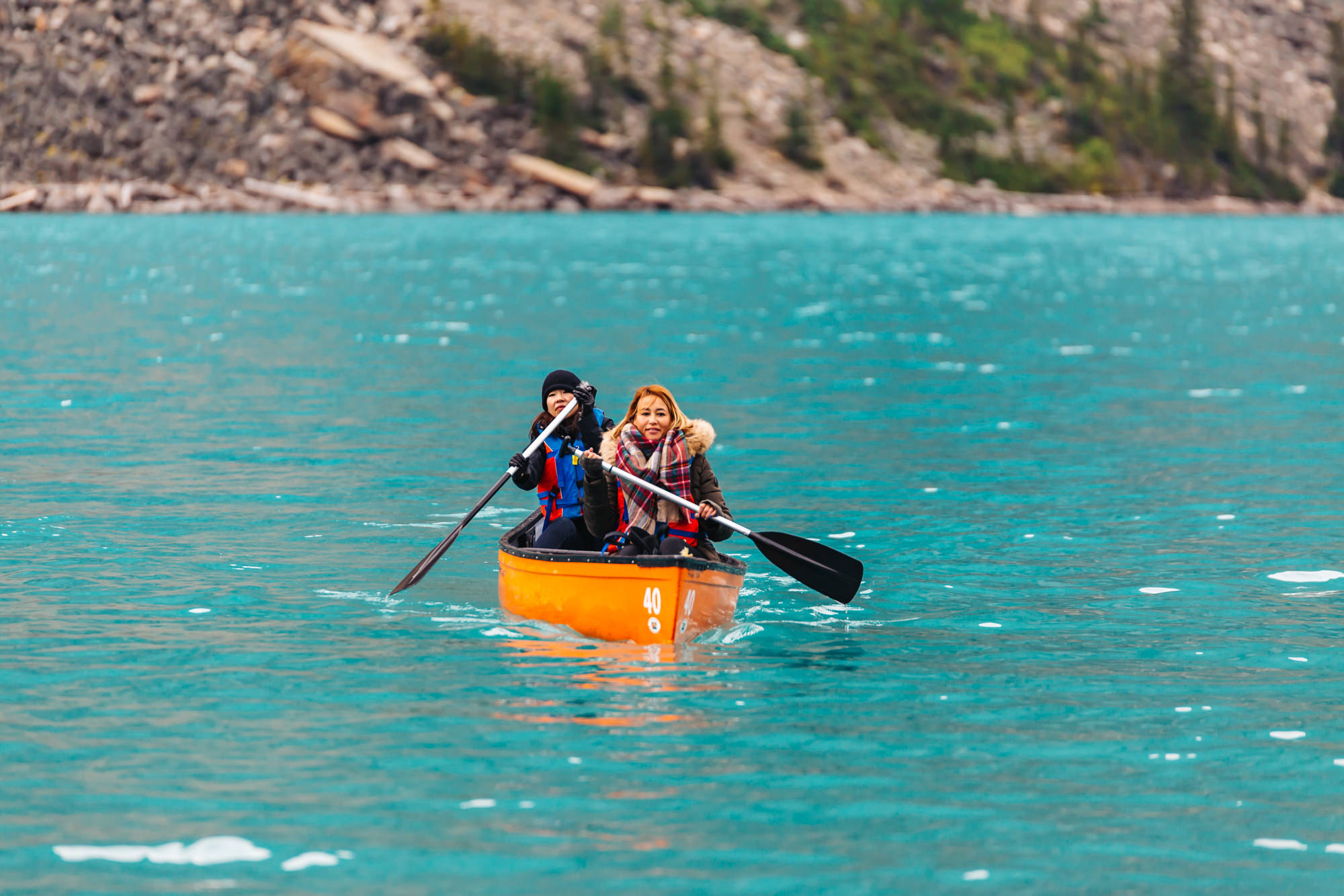 Canoe Rental at moraine Lake Banff Canada
