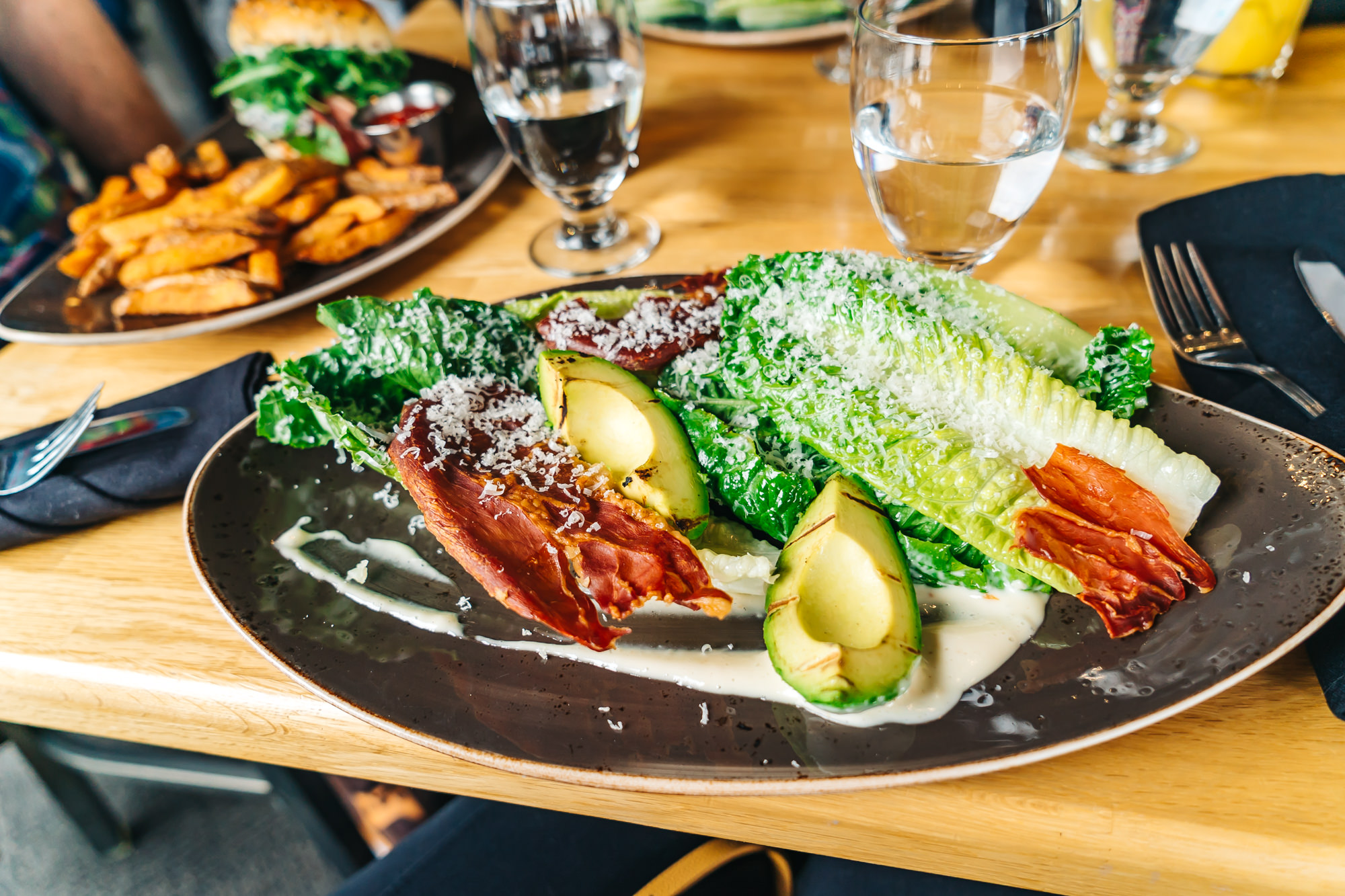 Caesar Salad with Fried Prosciutto