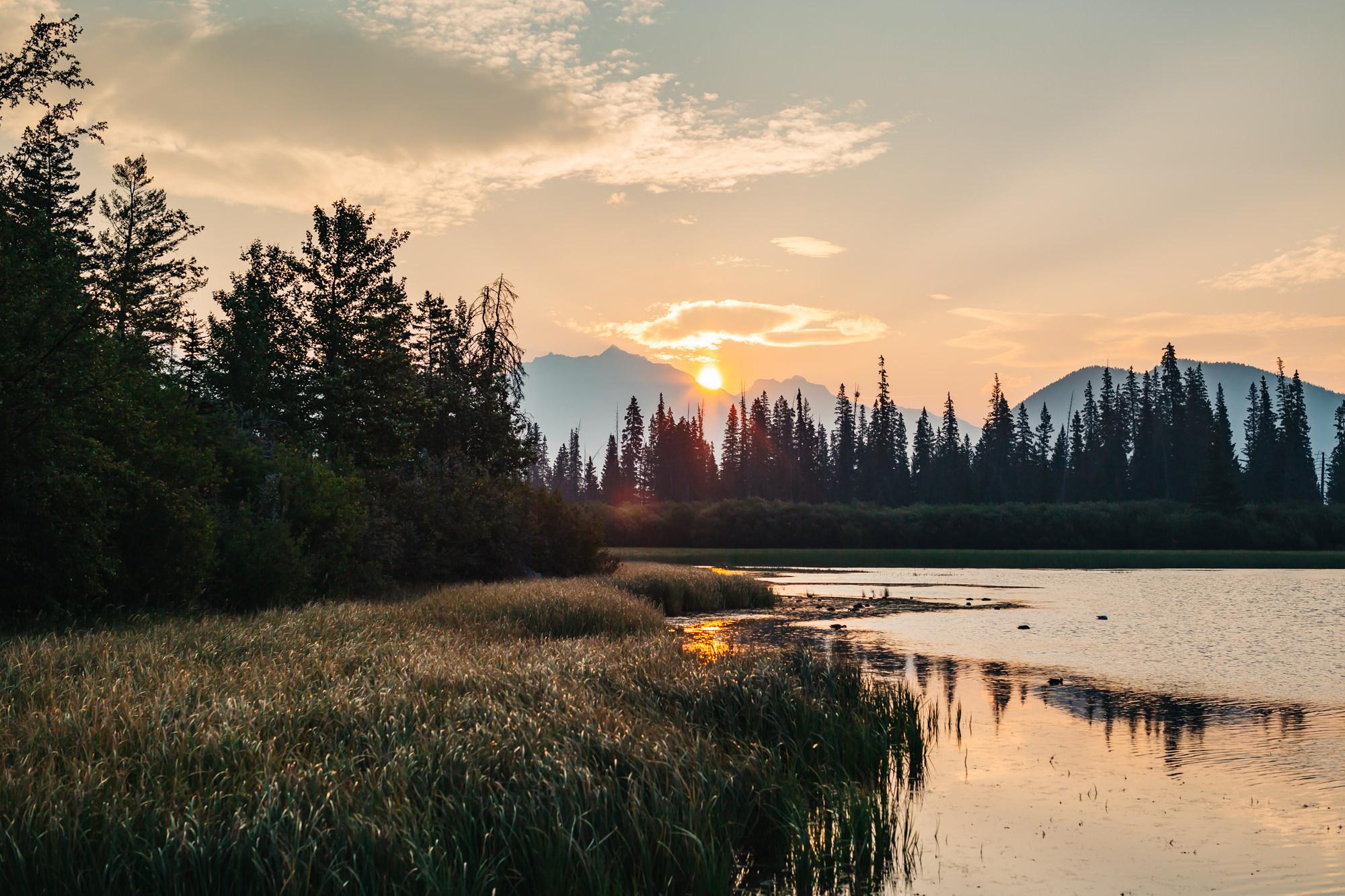 Vermilion Lakes Banff National Park #VermilionLakes