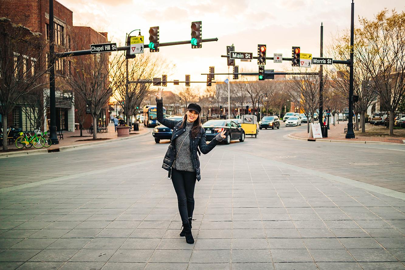 Exploring downtown Durham, NC