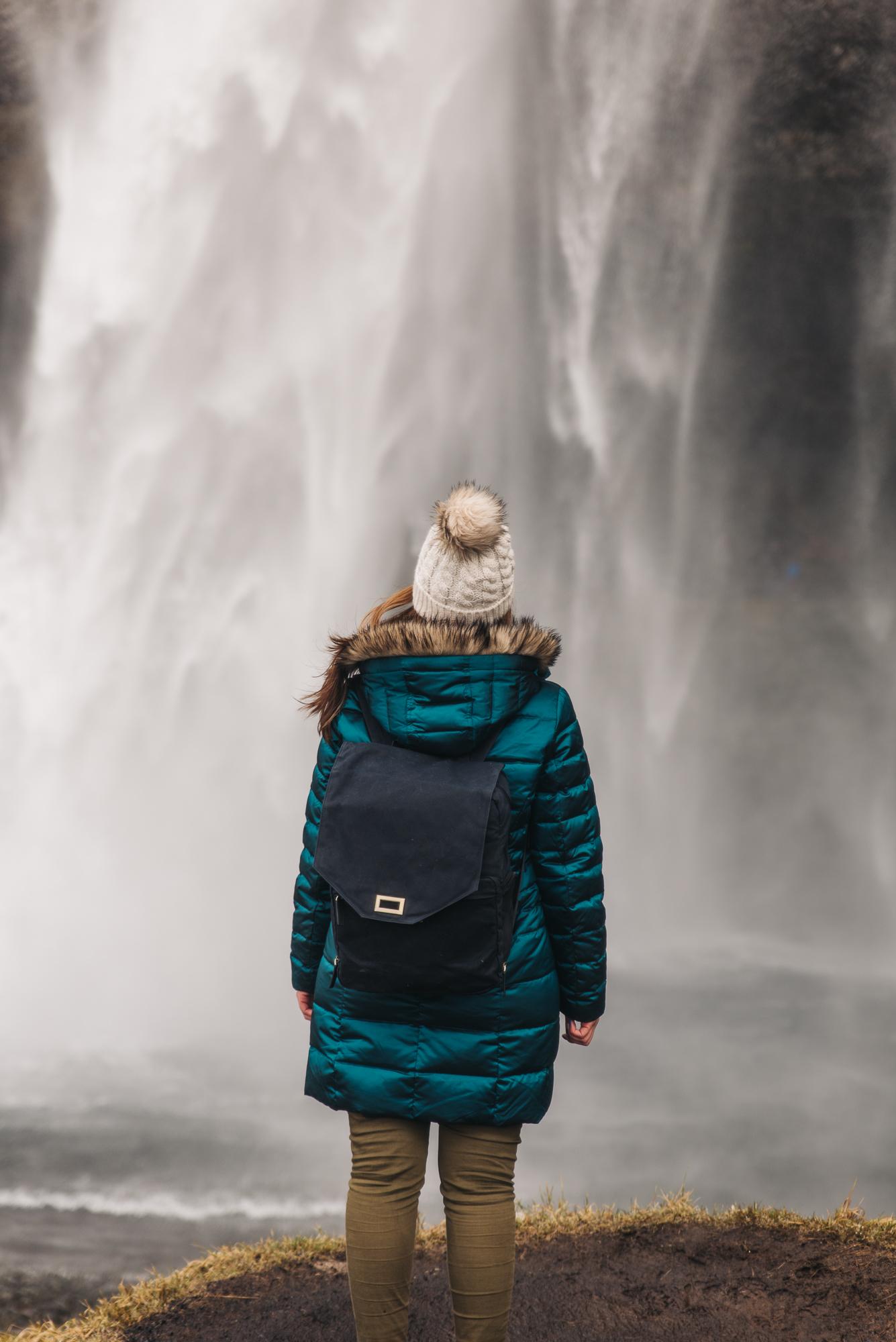 Lands End   Down Coat //   Johansen   Black Camera Backpack