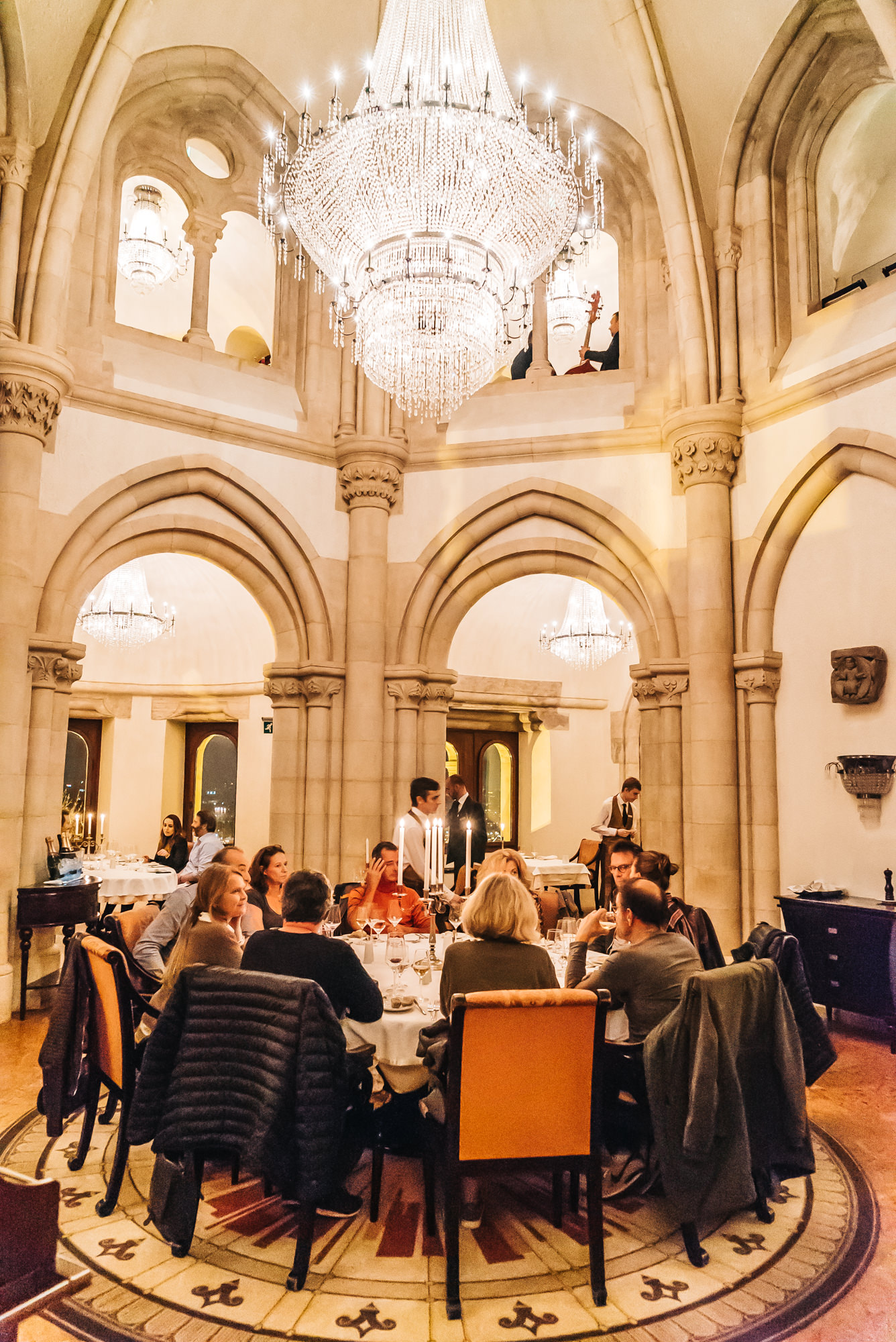 Gorgeous decor inside Halaszbastya Restaurant