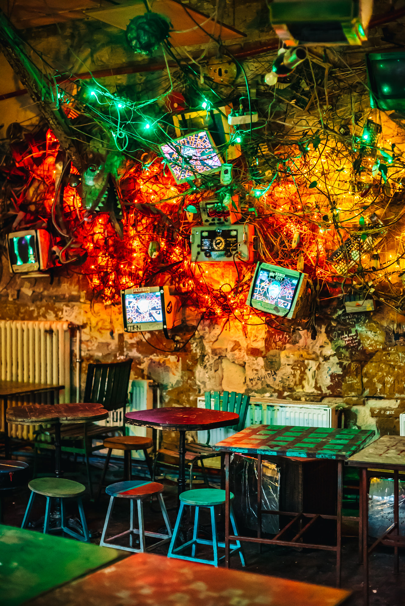 Fun decorations at Szimpla Kert