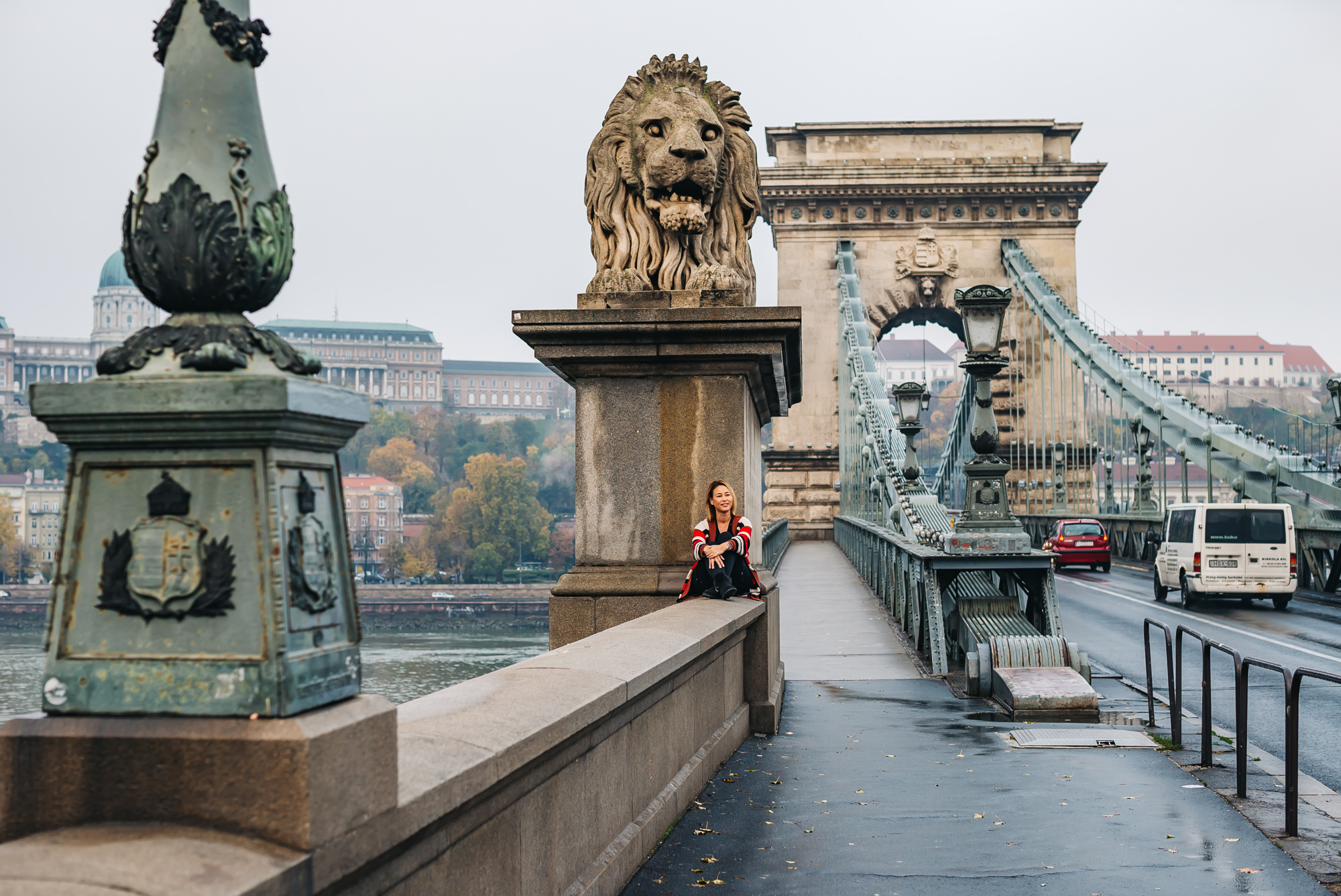 The famous Chain Bridge in Budapest, Hungary