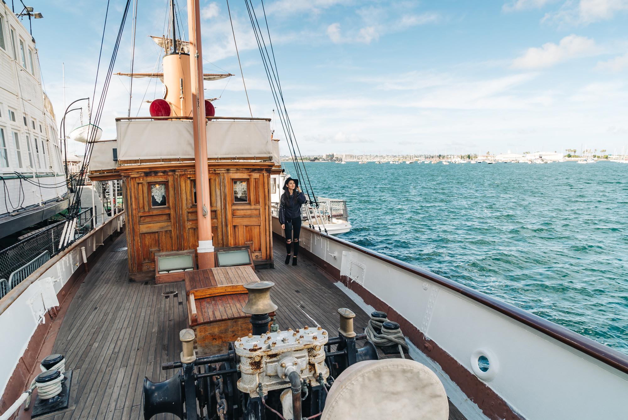 Walking around the 1904 Steam Yacht Medea