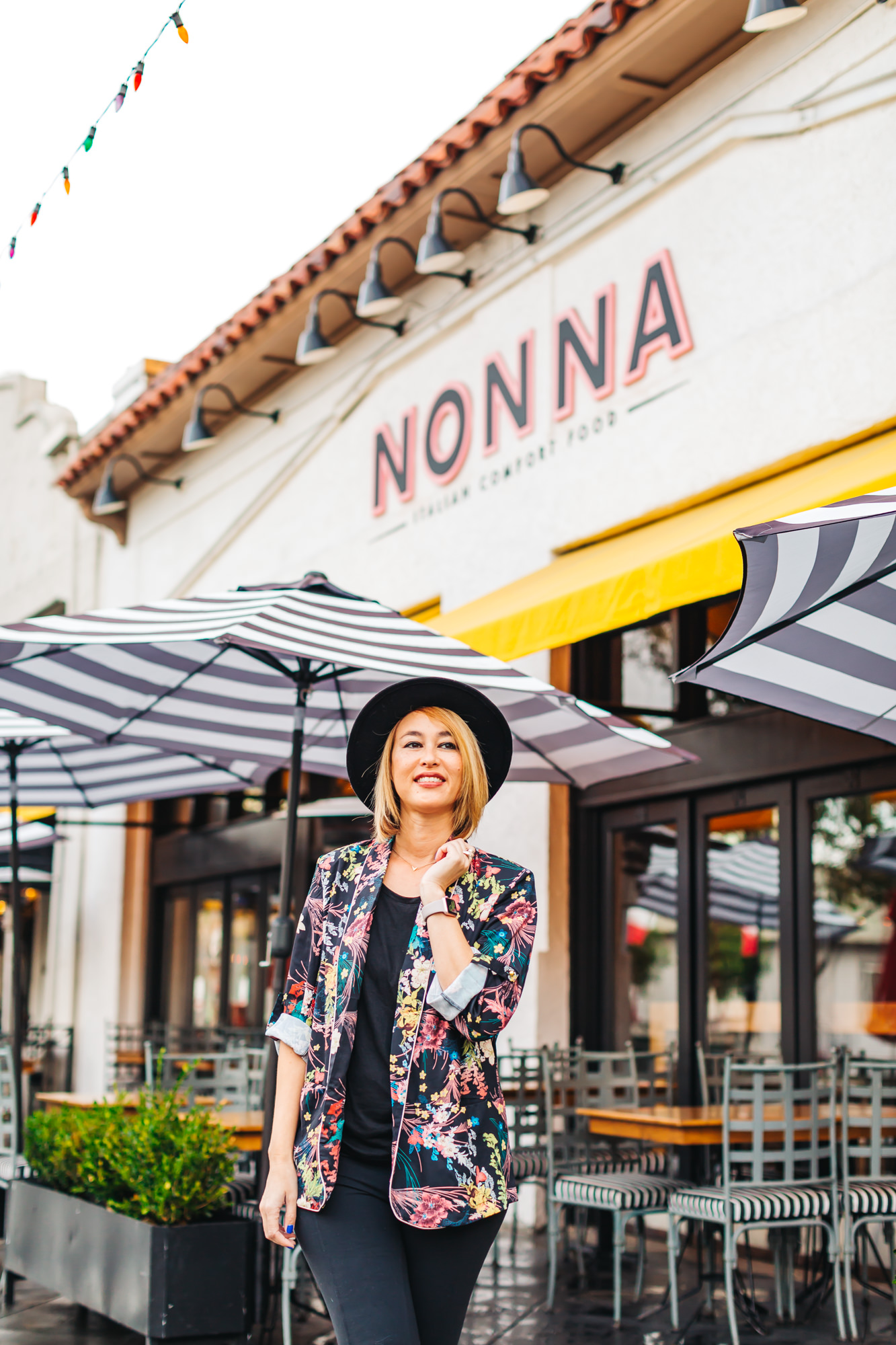 Seating both indoors and outdoors at Nonna + Zucchero