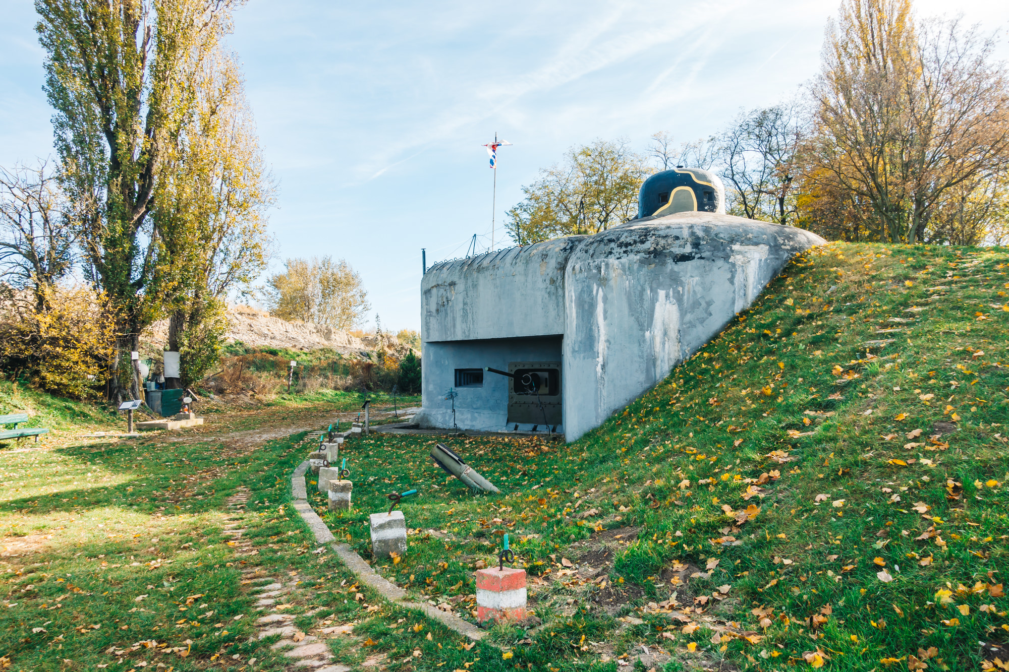 Old bunker at the Iron Curtain border