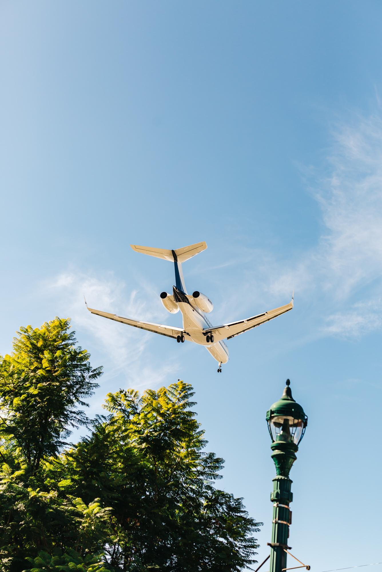 Planes flying overhead at   Nolita Hall