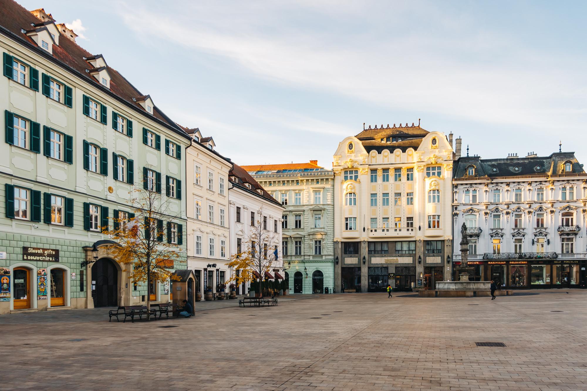 Main Square of Old Town in Bratislava