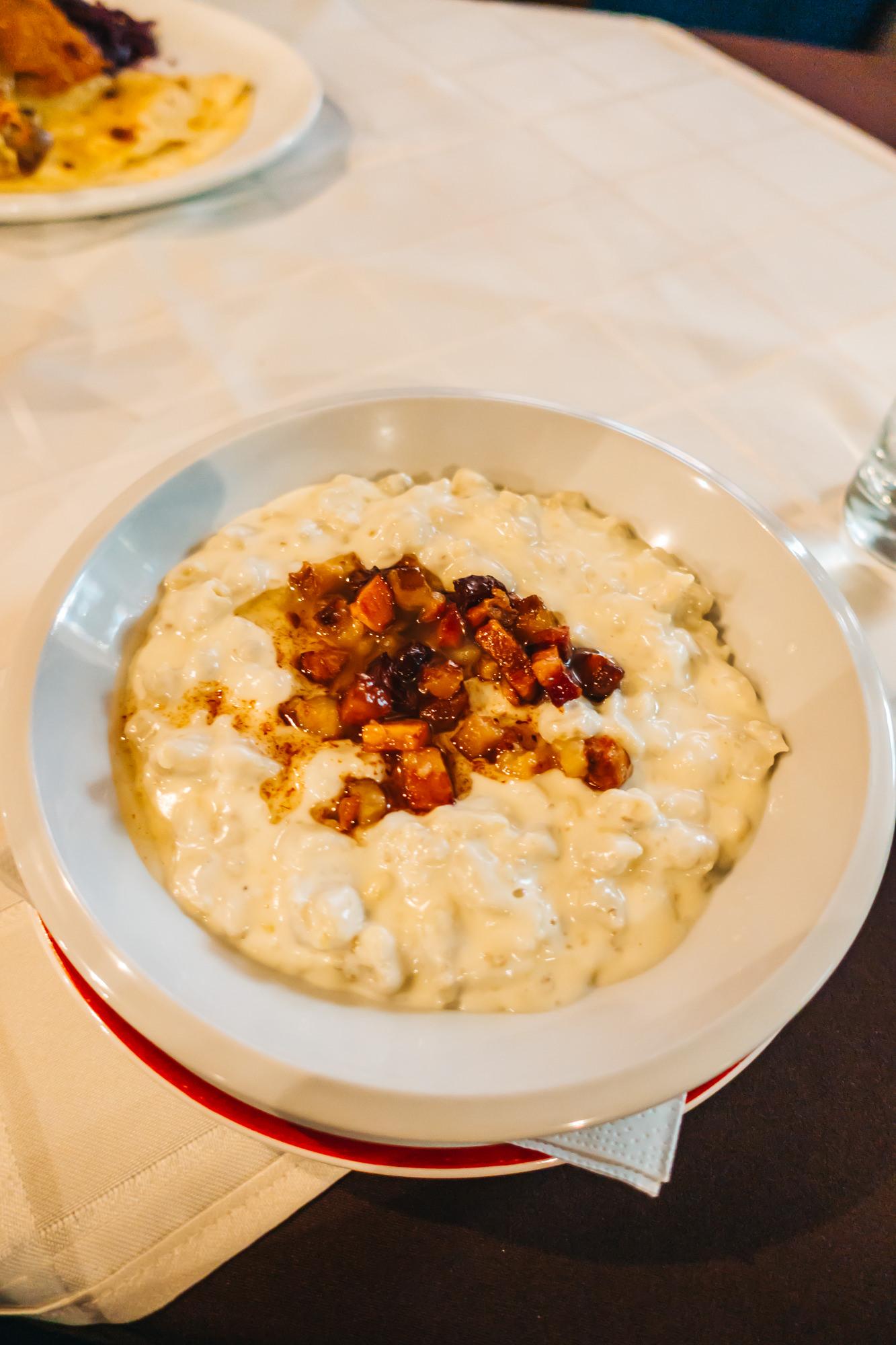 Bryndzové halušky - Traditional Slovak dish