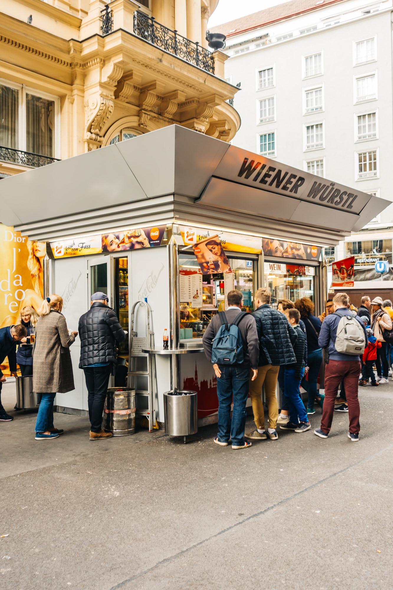 Enjoy some cheap food at Wiener Wurstl