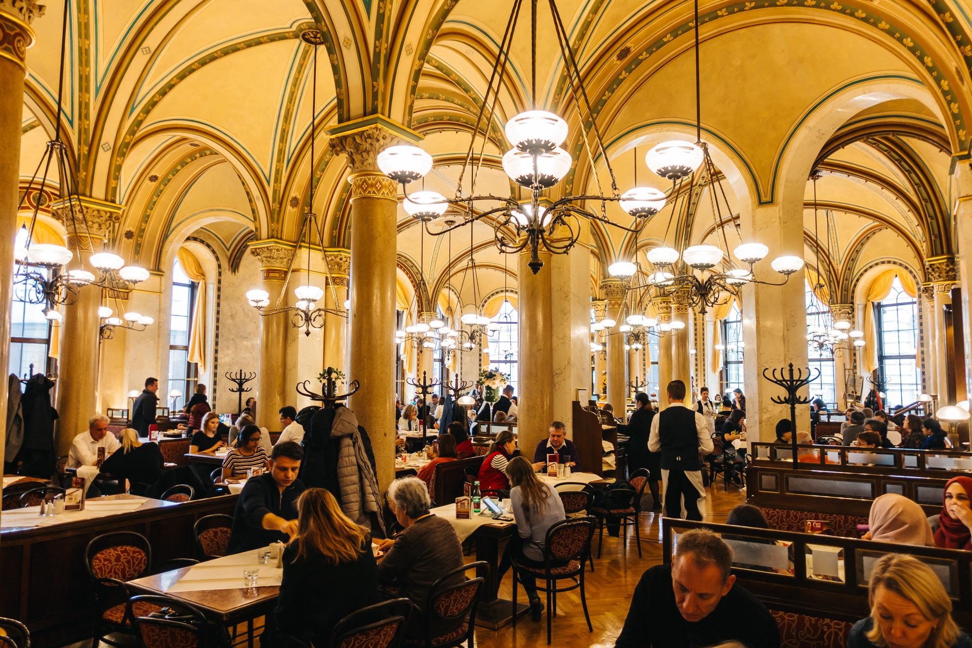 Inside the famous Cafe Central