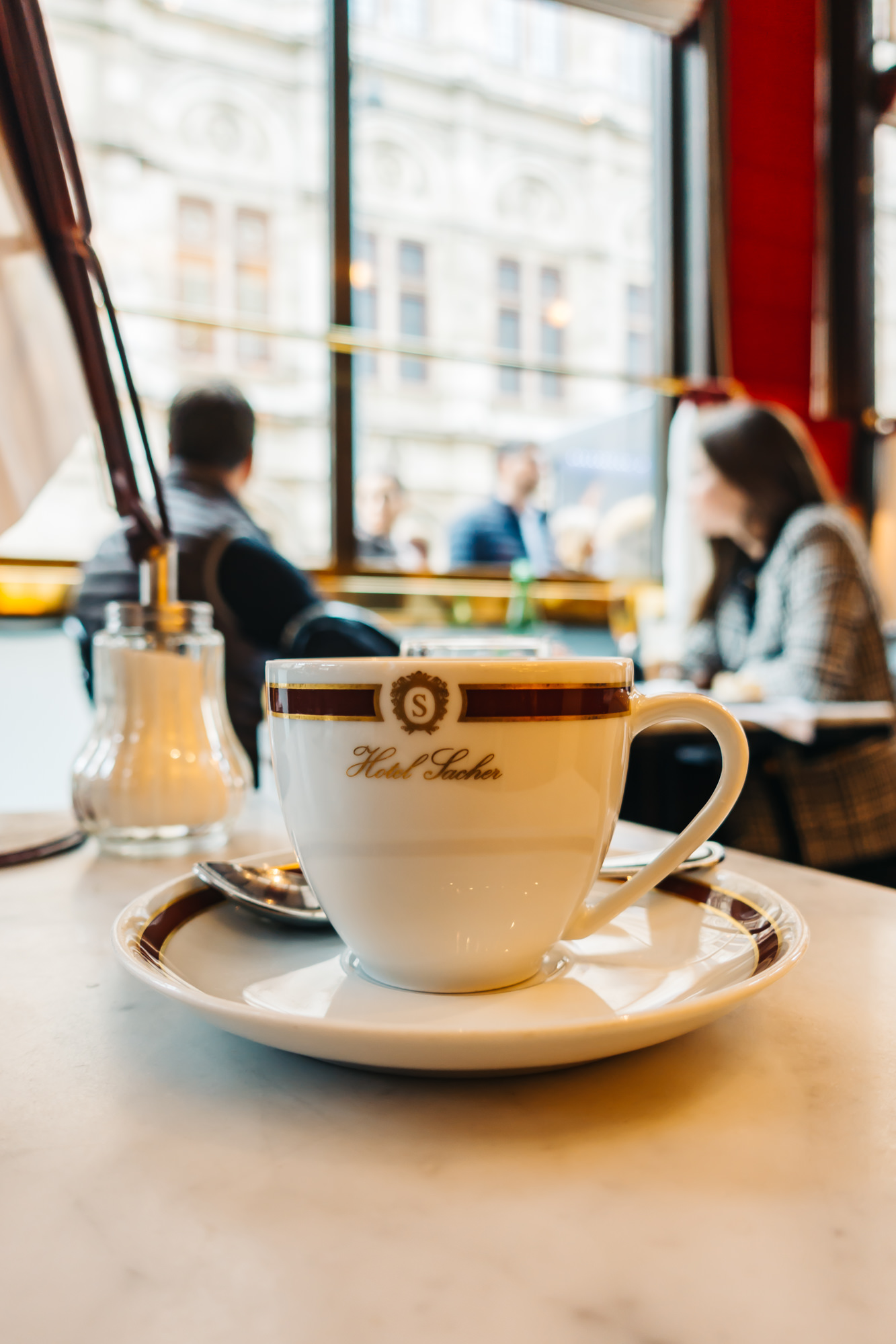 the famous Cafe Sacher at Hotel Sacher in Vienna