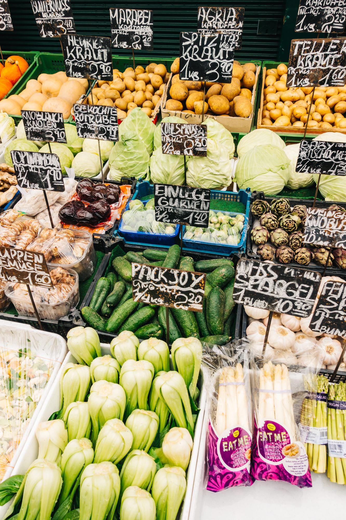 Fresh vegetables at Naschmarkt