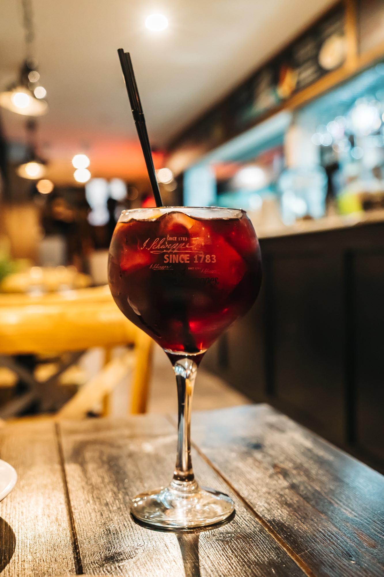 A big glass of Sangria at El Rincon Restaurant