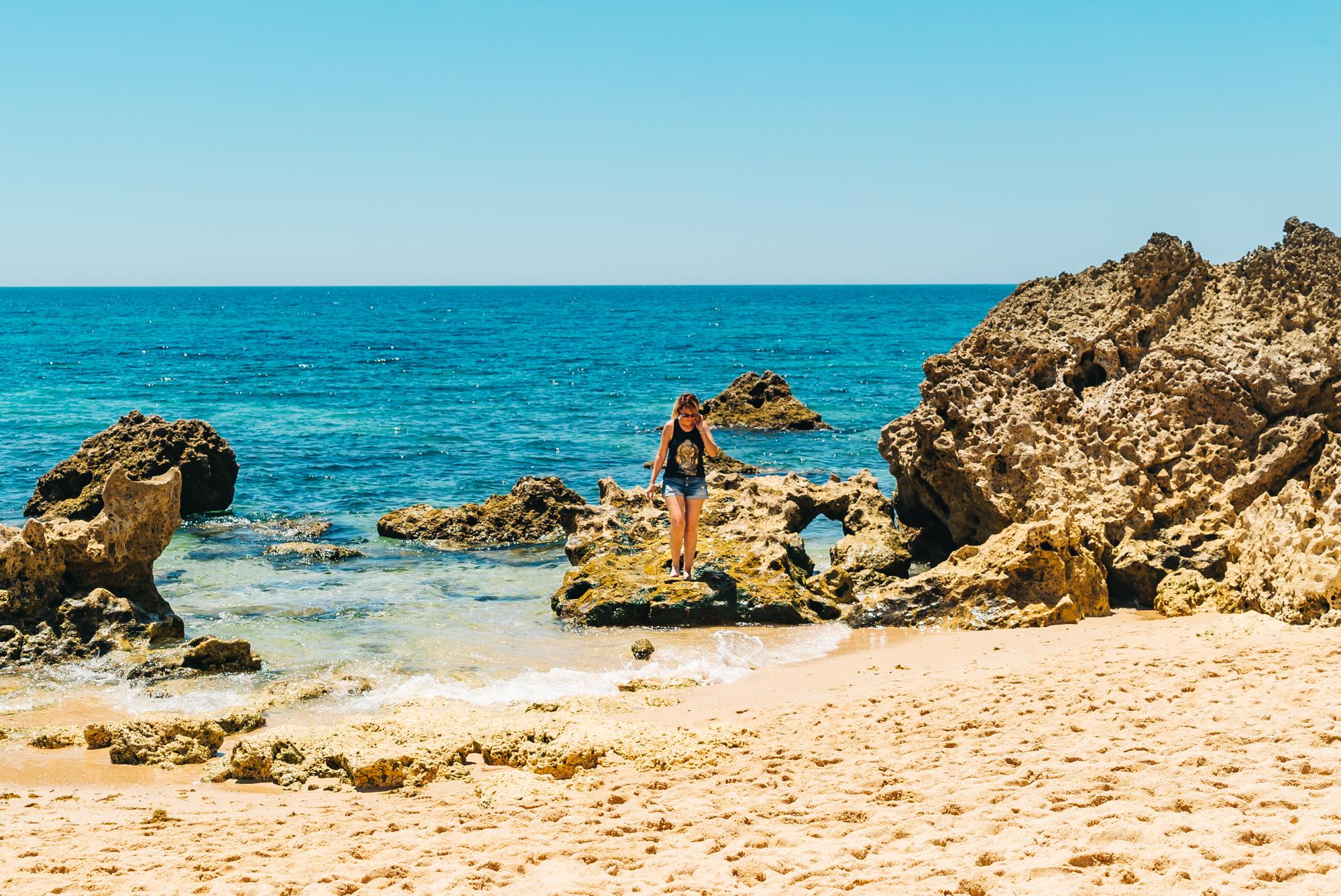 Relaxing on the beach at Praia de São Rafael
