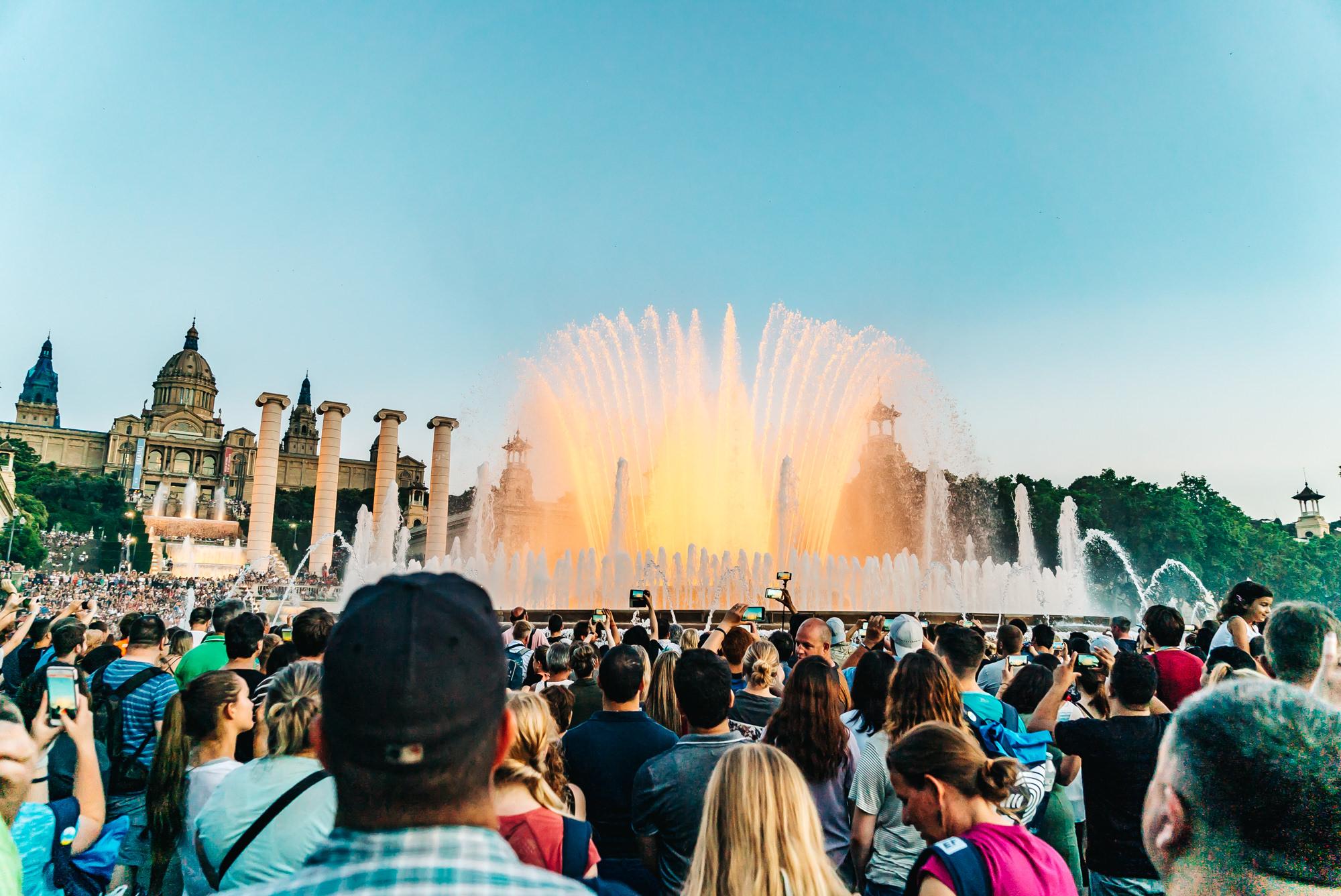 Magic Water Fountain in Barcelona