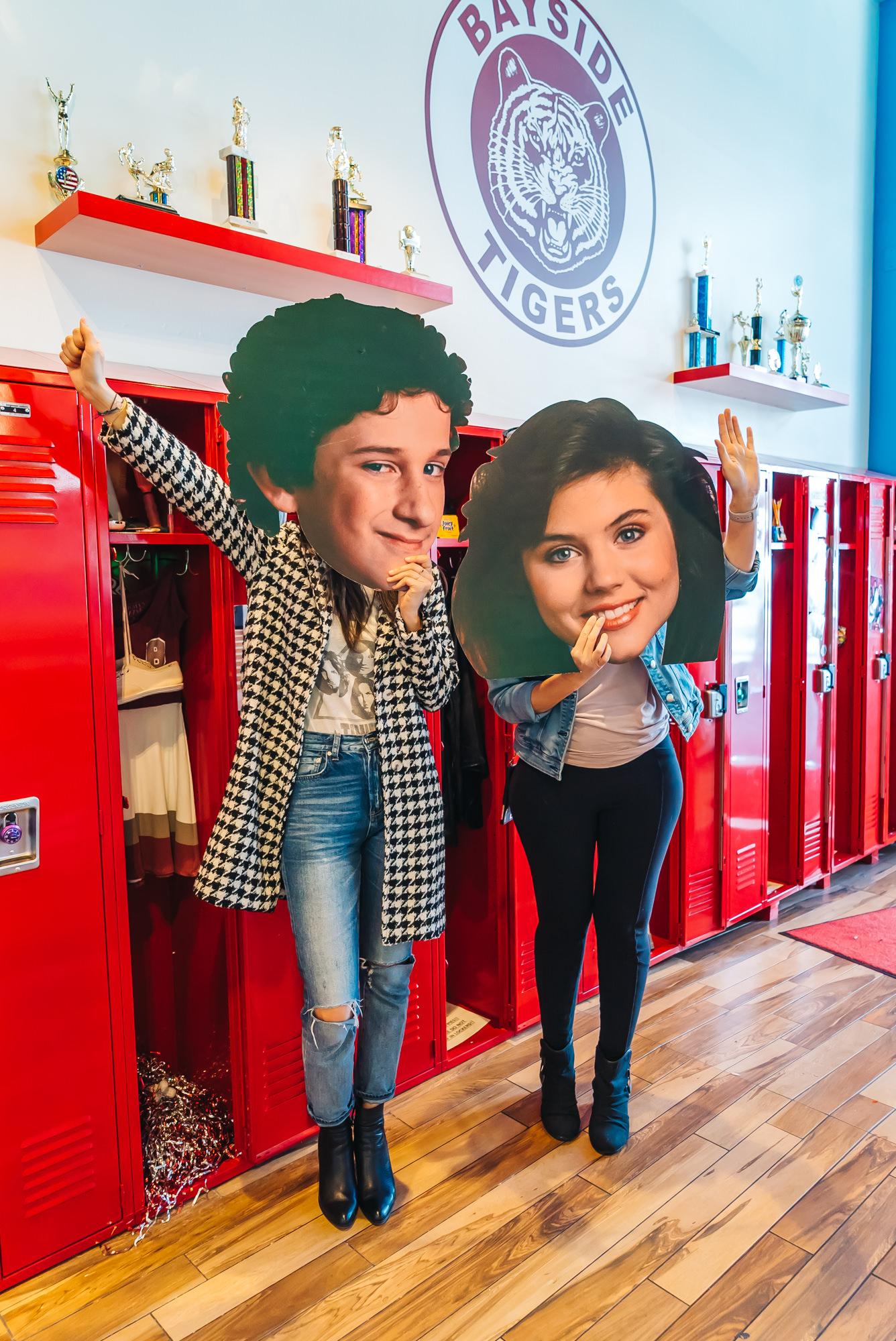 Fun Cutout heads of Screech and Kelly