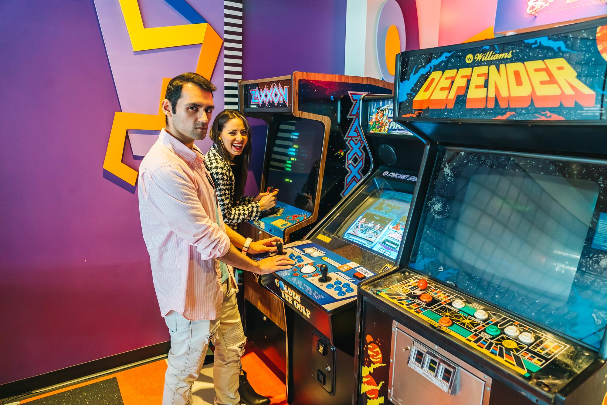 Enjoying the free arcade games