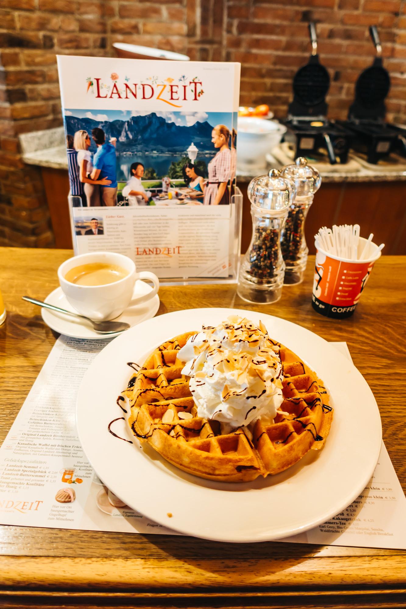My amazing waffle at Landzeit