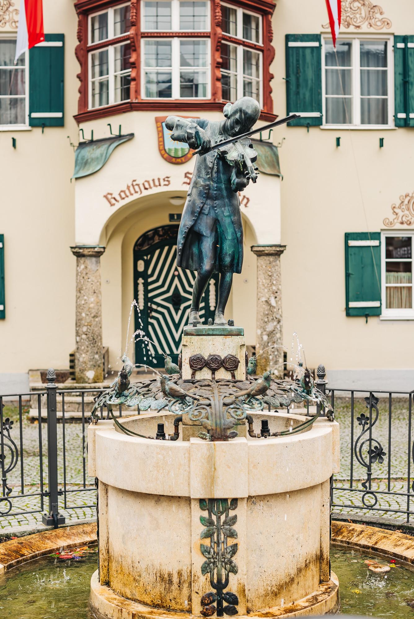 Mozart's Statue at Wolfgang Lake Village