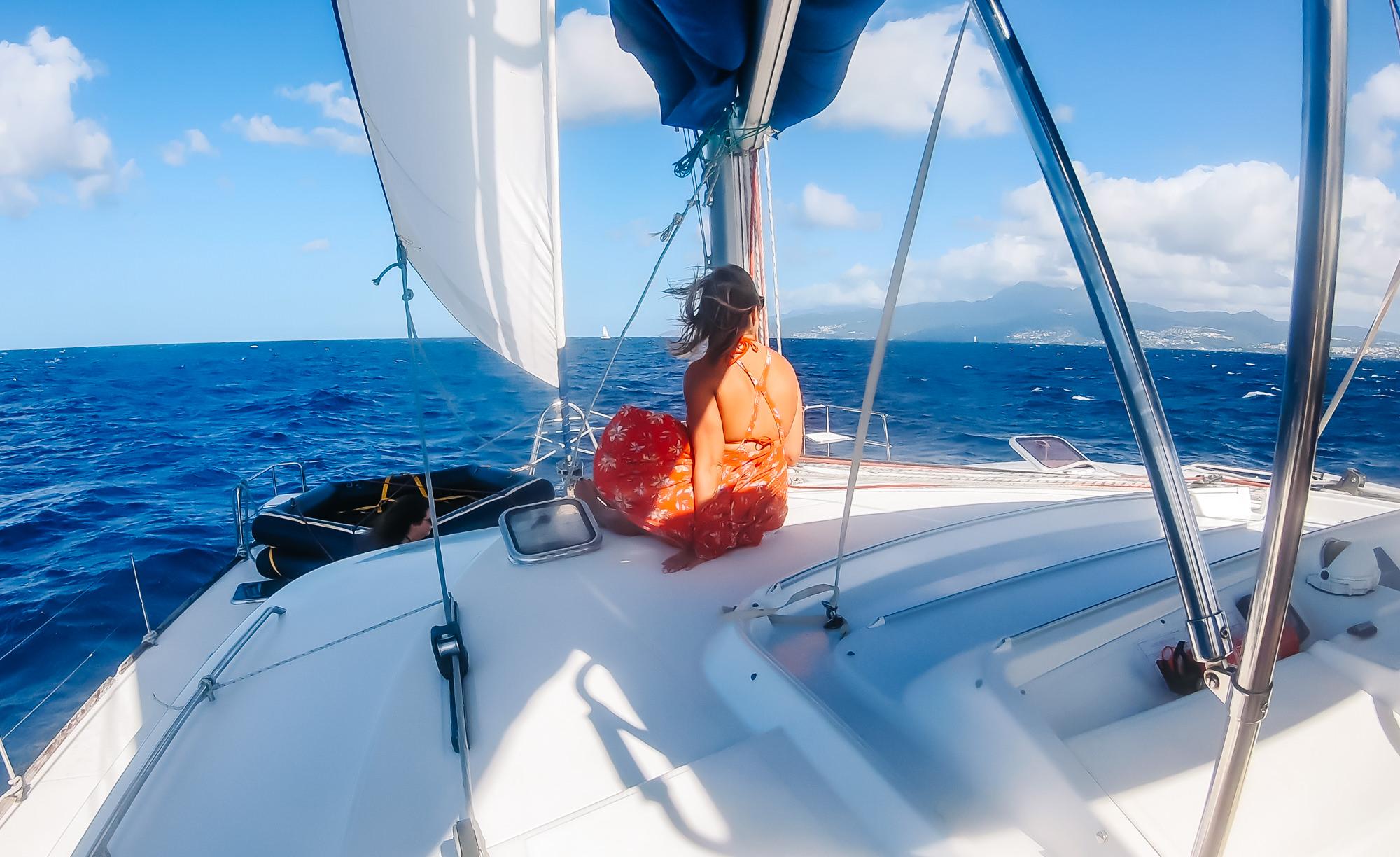 Alyssa getting the prime view in Martinique
