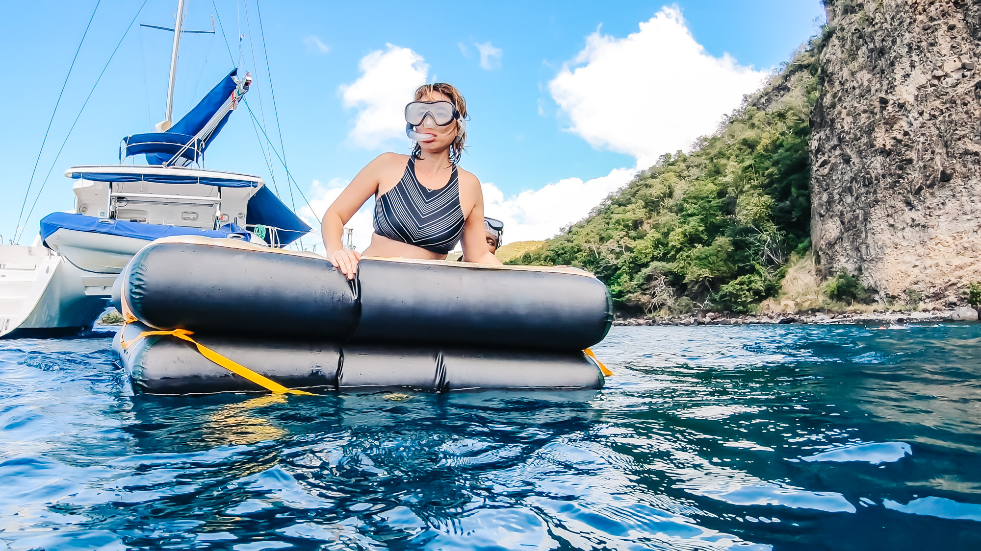 Taking a little break from snorkeling