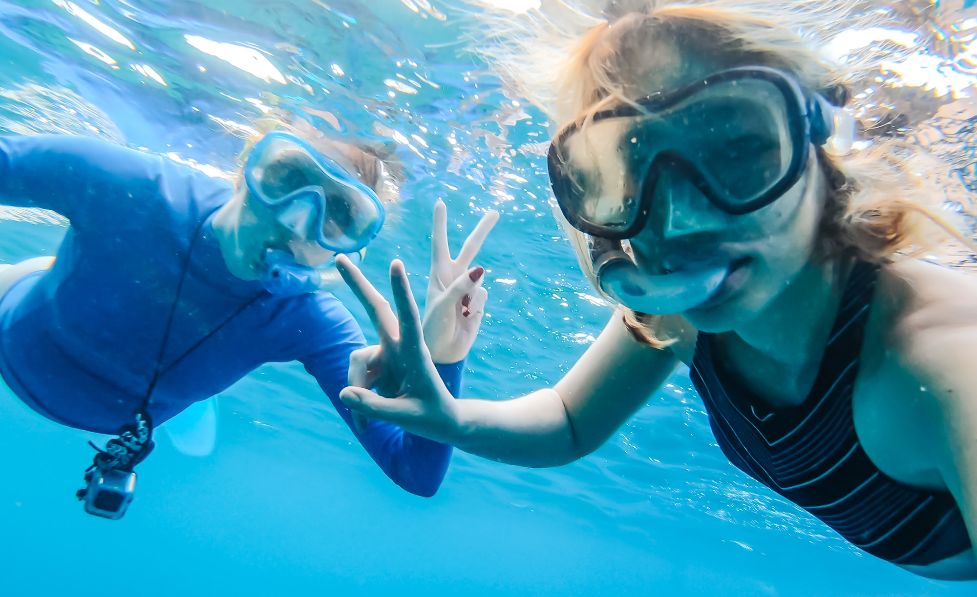 Snorkeling with my fellow travel blogger, Stephanie from   Ginger on the Go