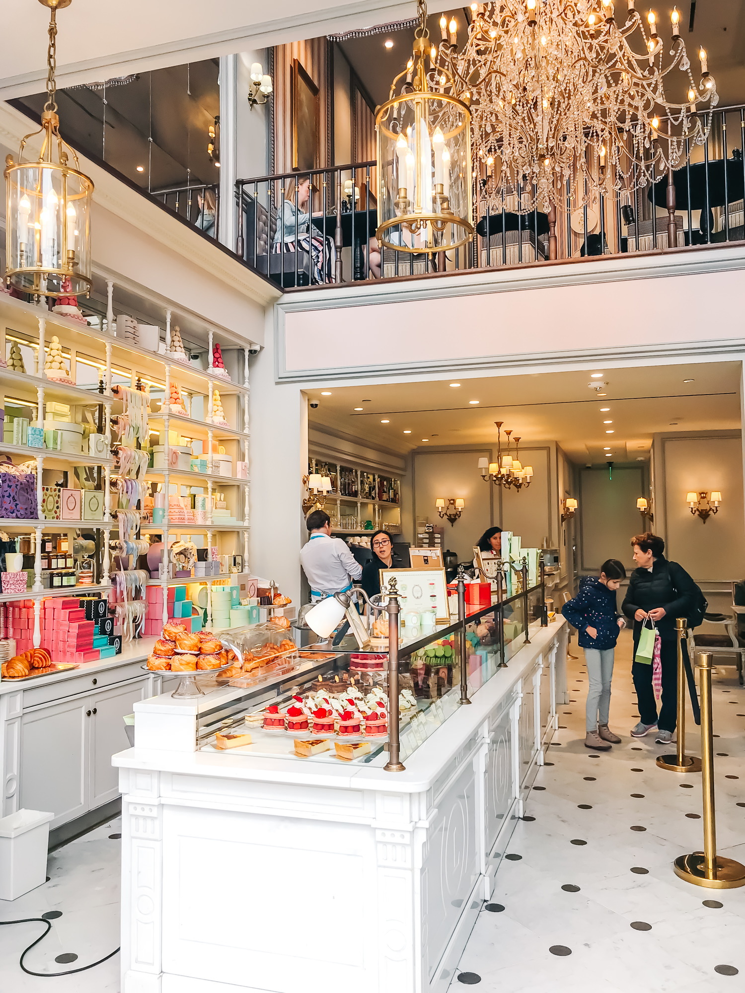 inside the adorable Ladurée